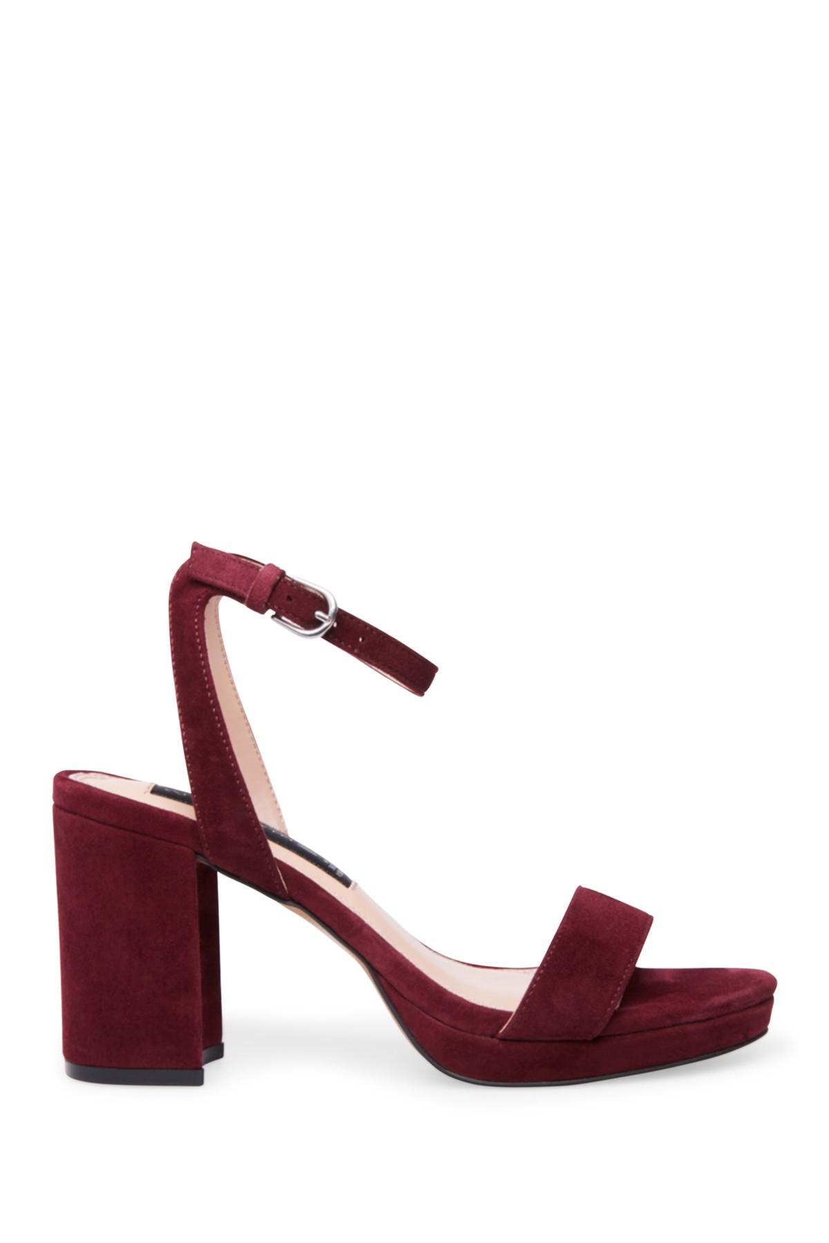 1ce5b60a60f Women's Red Viga Suede Block Heel Sandal