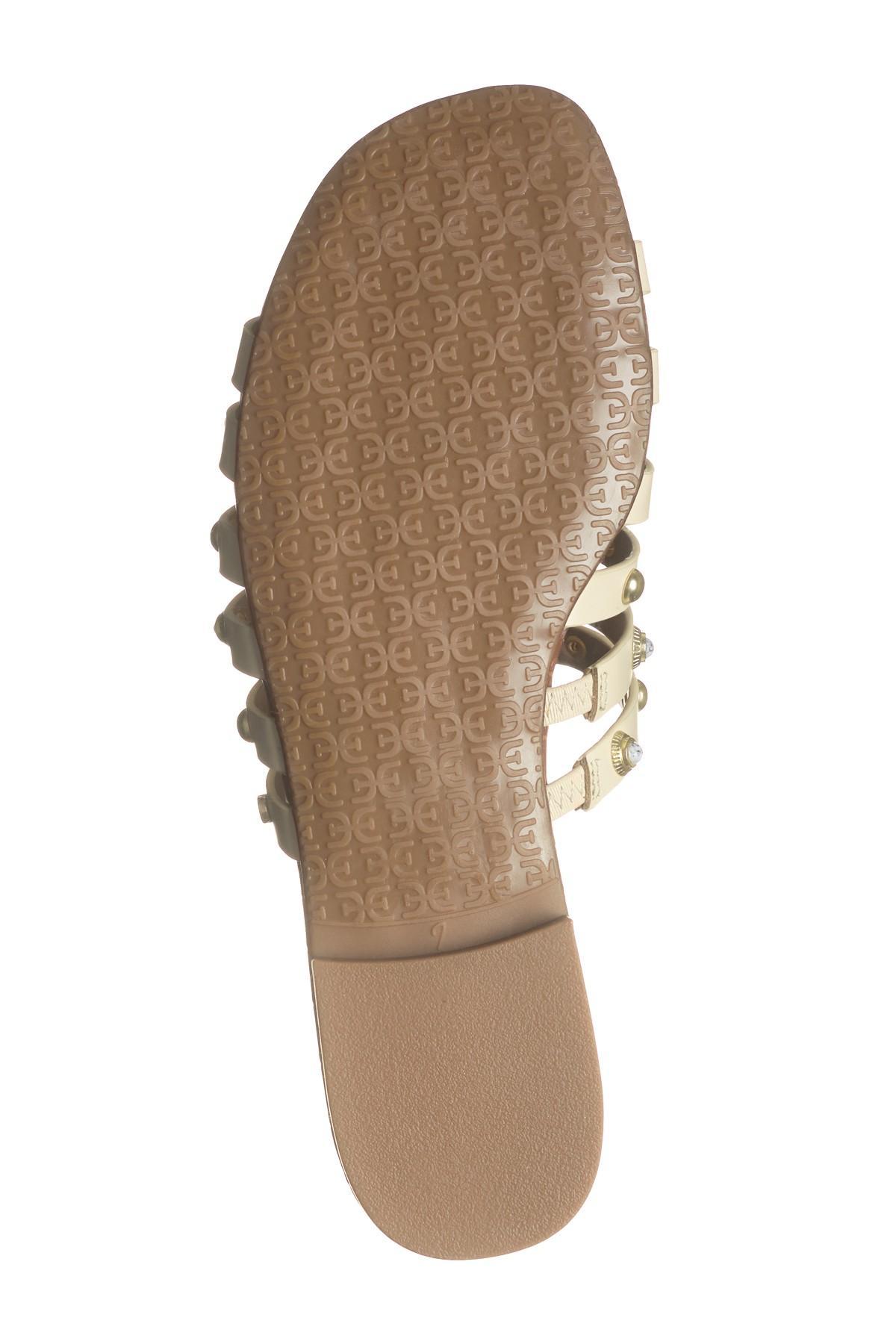 b65257ce4a6a Sam Edelman - White Brea Studded Slide Sandal - Lyst. View fullscreen