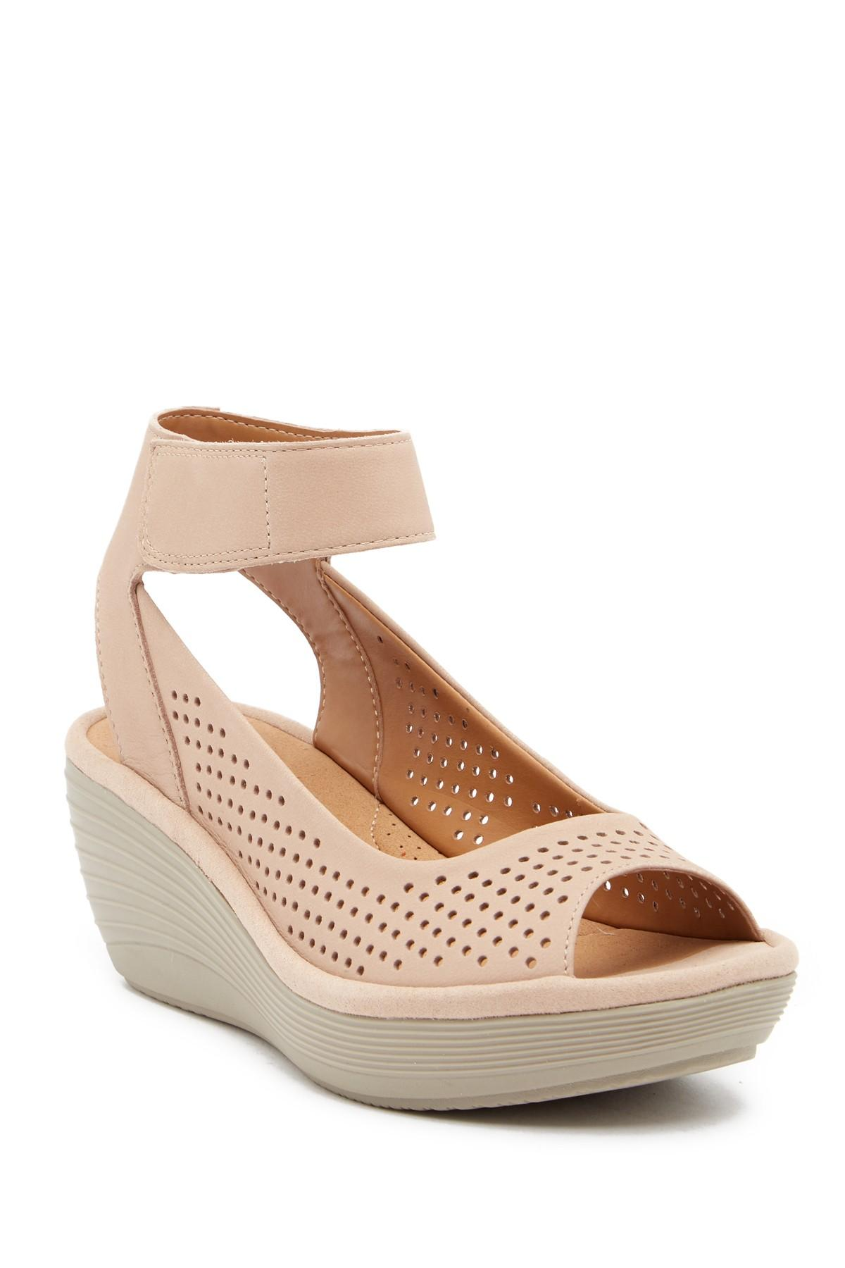 facd0c54be0 Lyst - Clarks Reedly Salene Wedge Sandals - Save 38%
