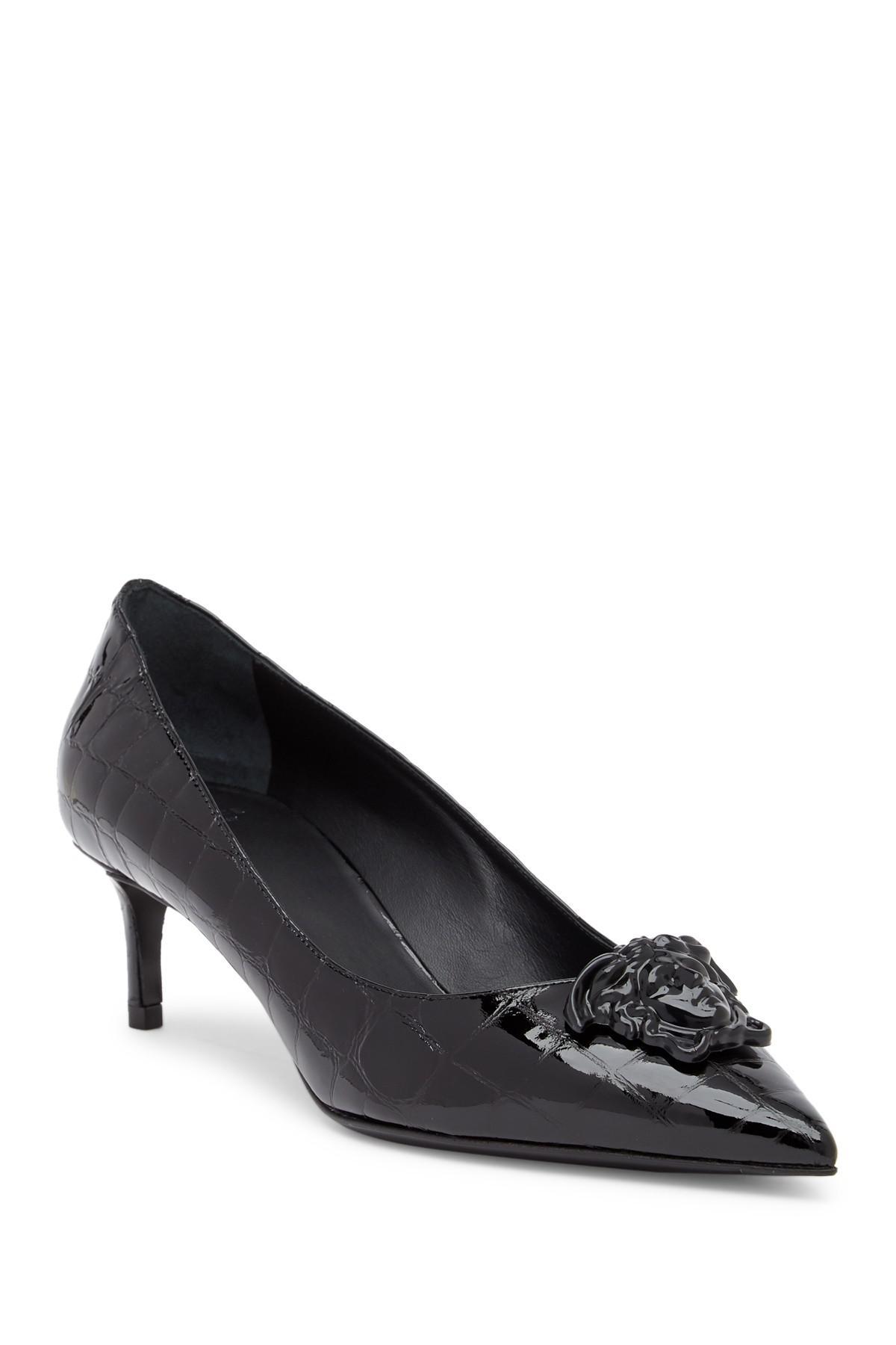 Black Medusa Tribute Kitten Heels Versace 2NiQcT