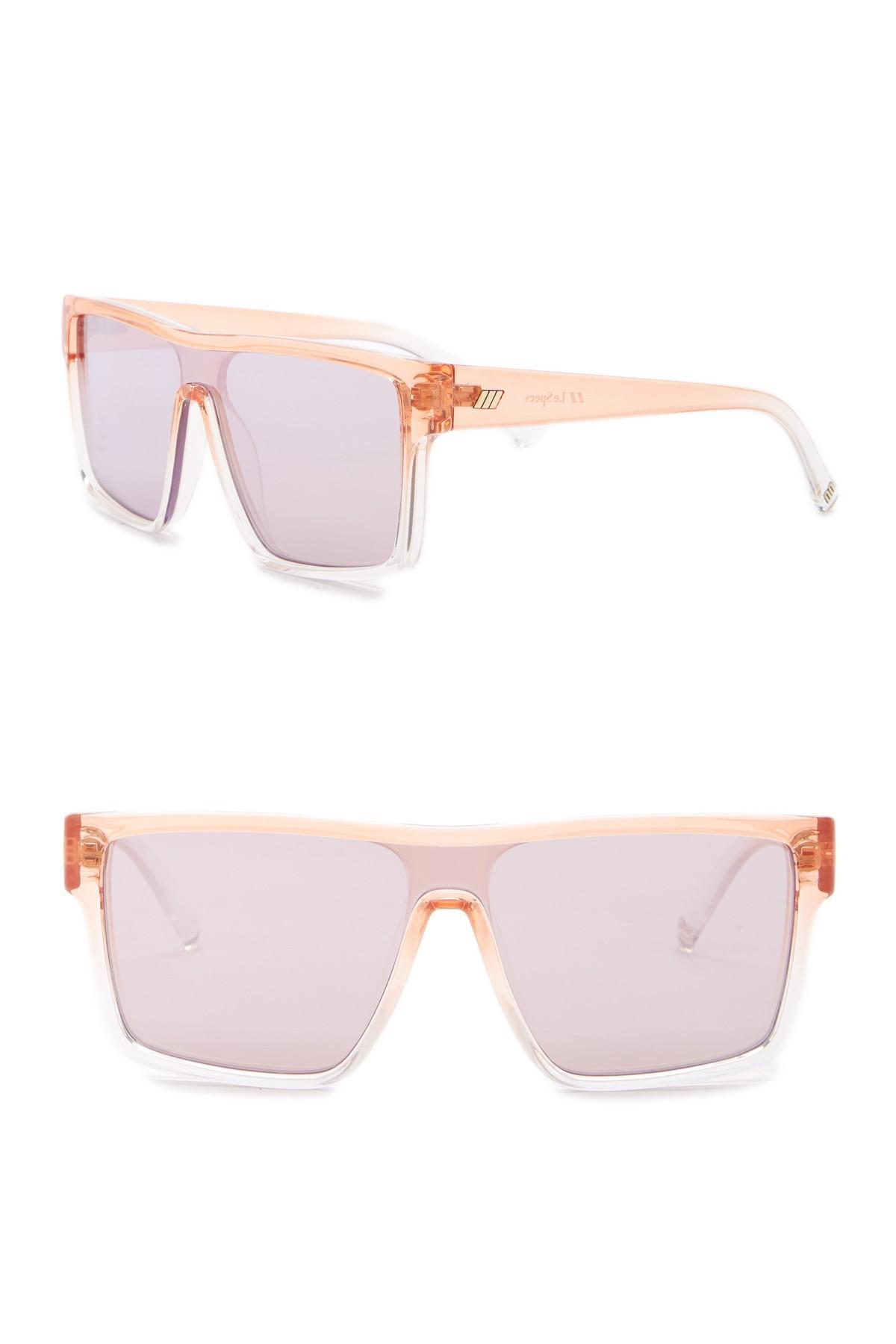 a8292bfb002 Lyst - Le Specs Moon Club 59mm Shield Sunglasses in Pink