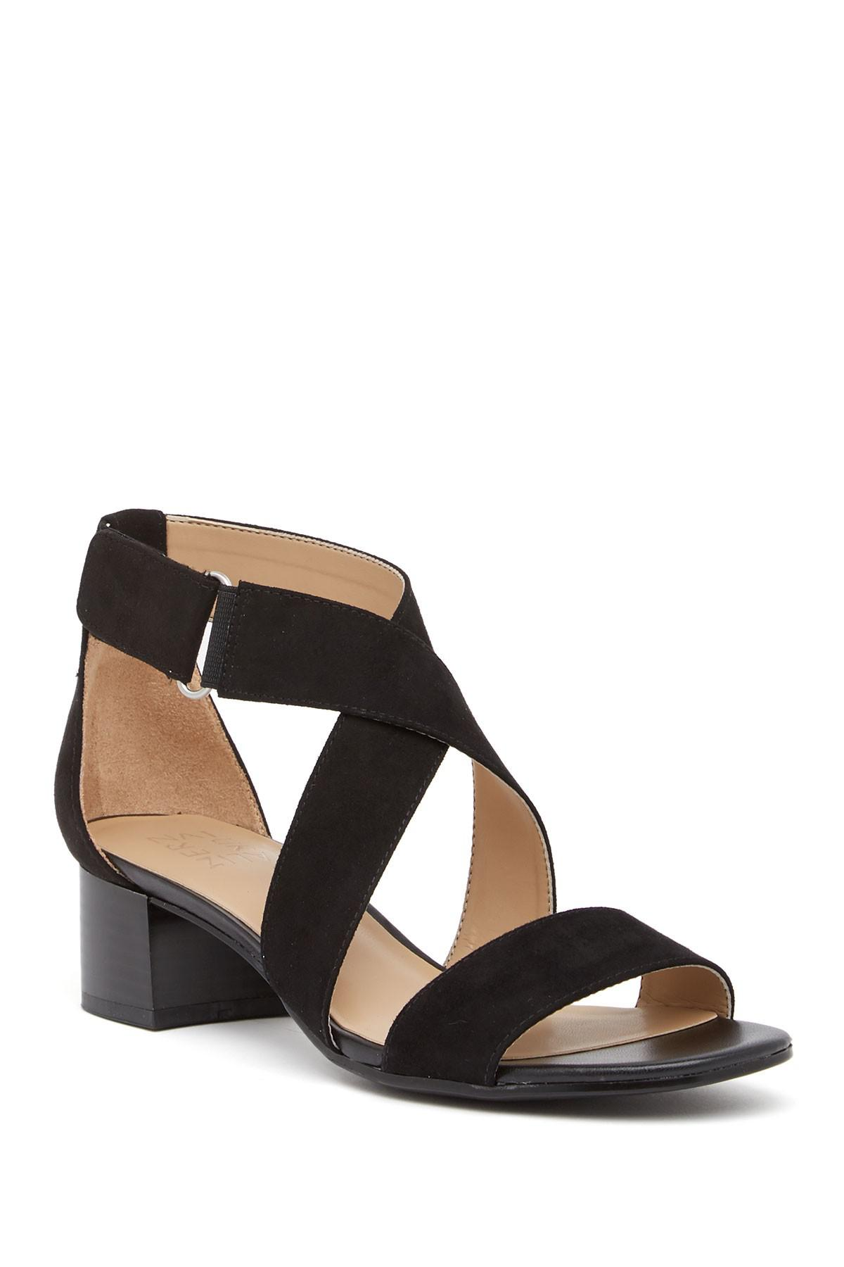 40658e11ece6 Naturalizer. Women s Black Adele Block Heel Sandal - Wide Width Available