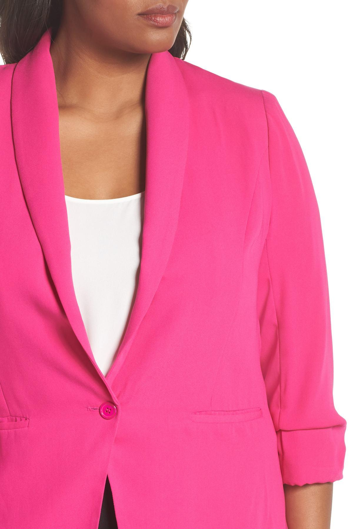 90f135c5acd Lyst - City Chic Dapper Blazer (plus Size) in Pink