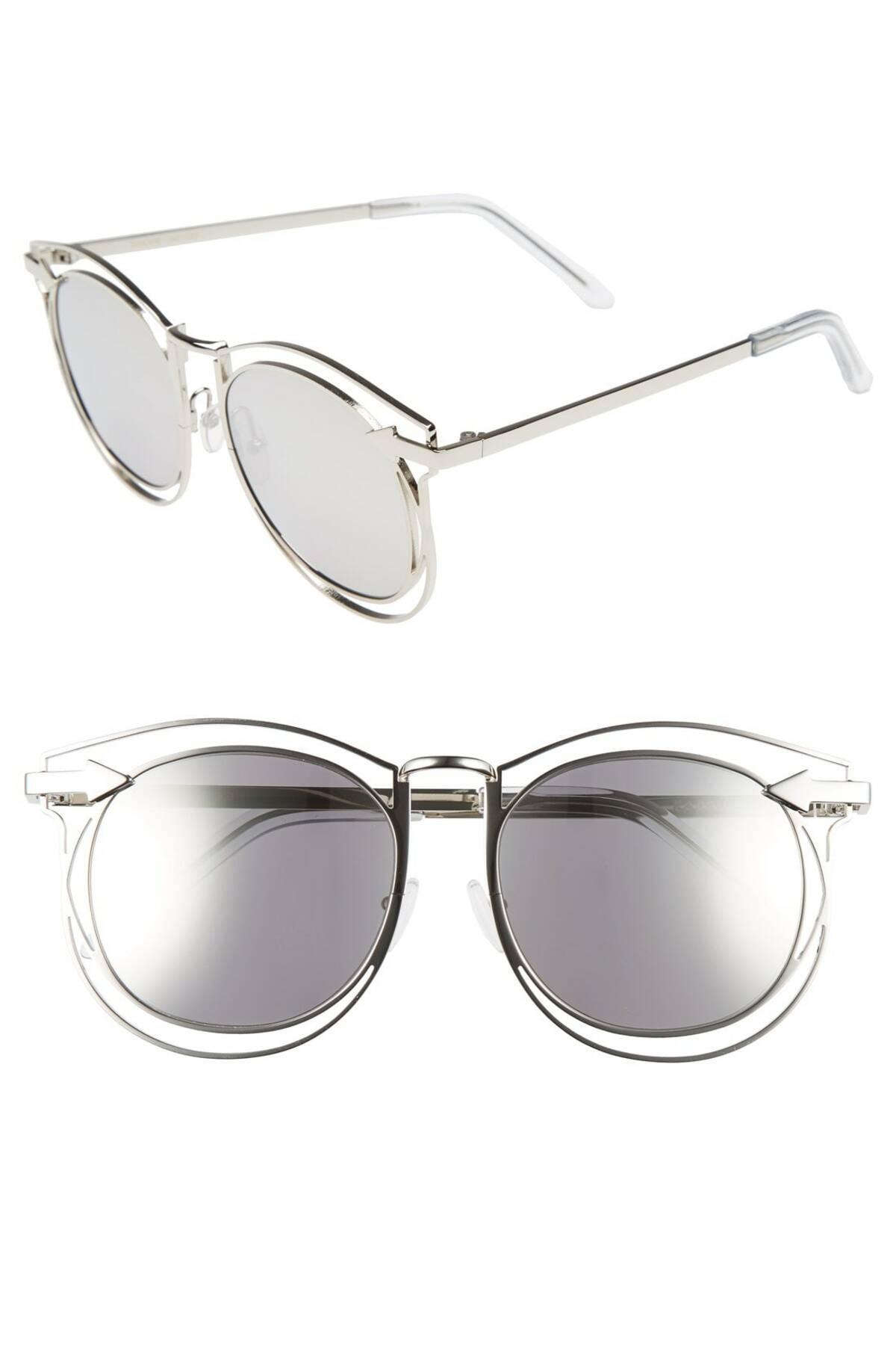 779b8faecfe8 Lyst - Karen Walker  simone  54mm Retro Sunglasses in Metallic ...