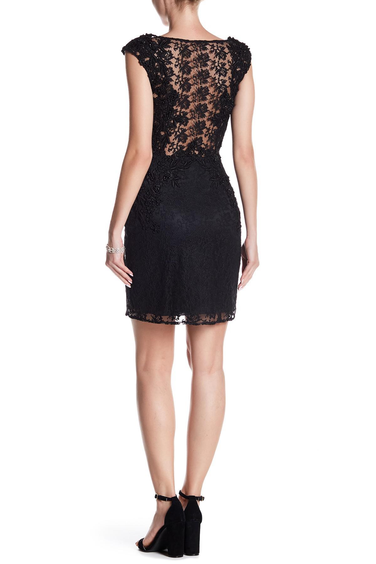 84da863483b5f basix black label BLACK Beaded Sleeveless Dress