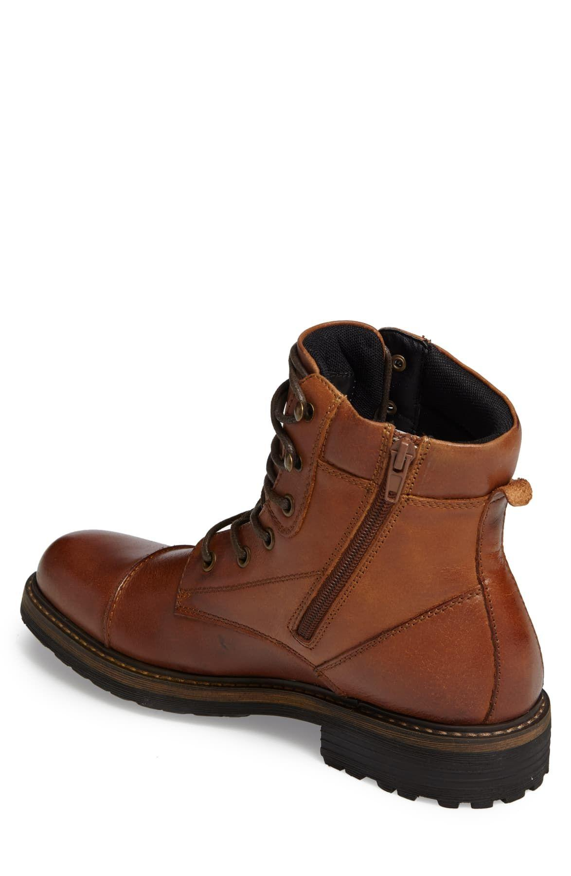 The Rail Leather Derek Cap Toe Boot in
