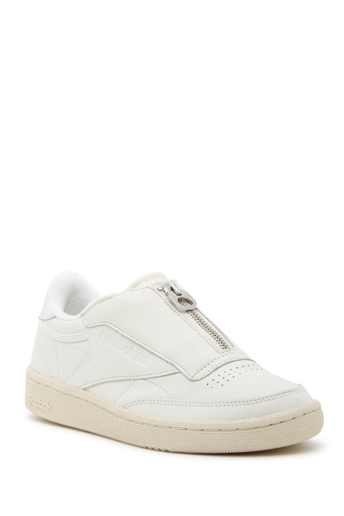 Reebok Leather Club C 85 Zip Sneaker in
