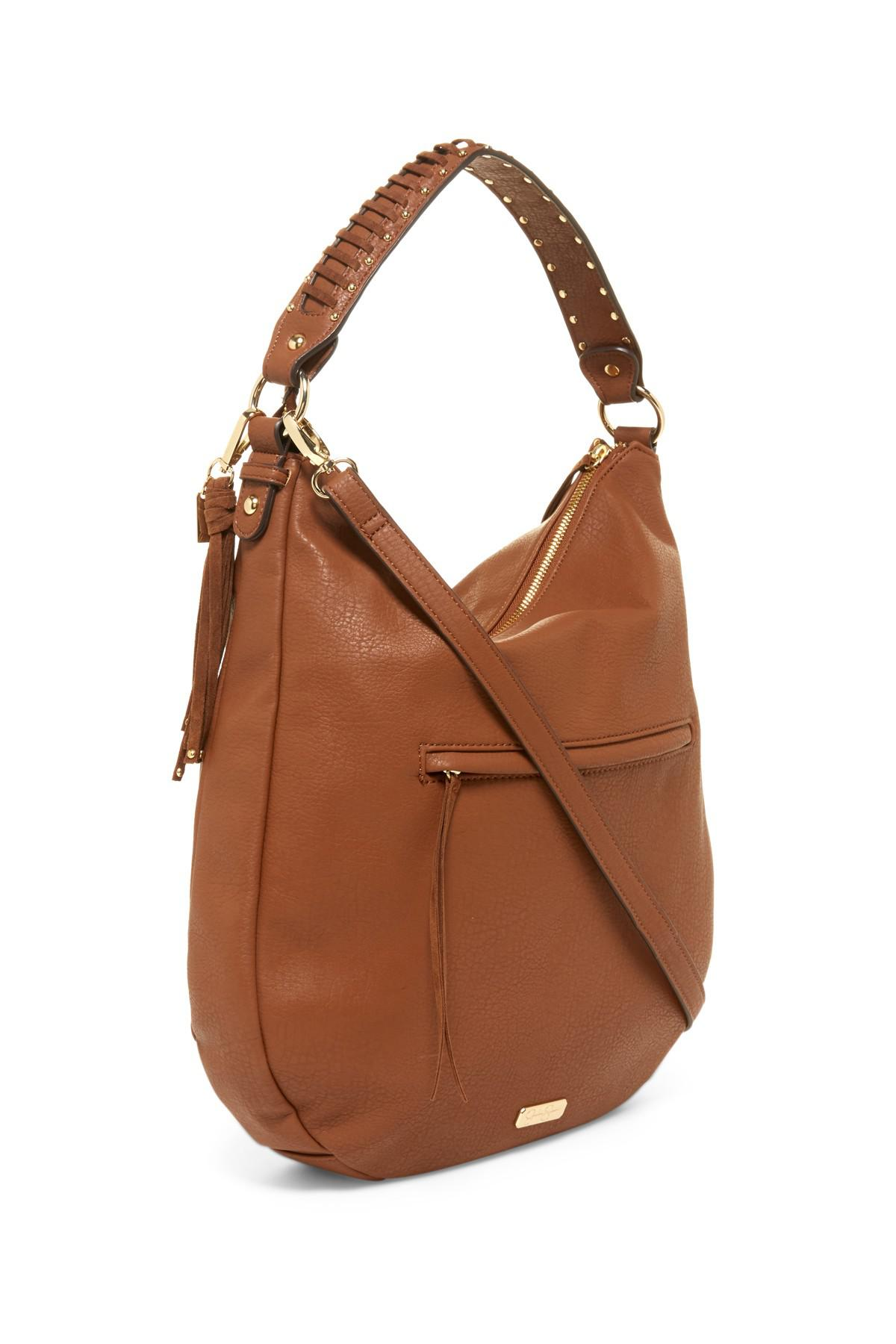 Lyst - Jessica Simpson Angie Shoulder Bag Hobo in Brown f0cf2137ef745