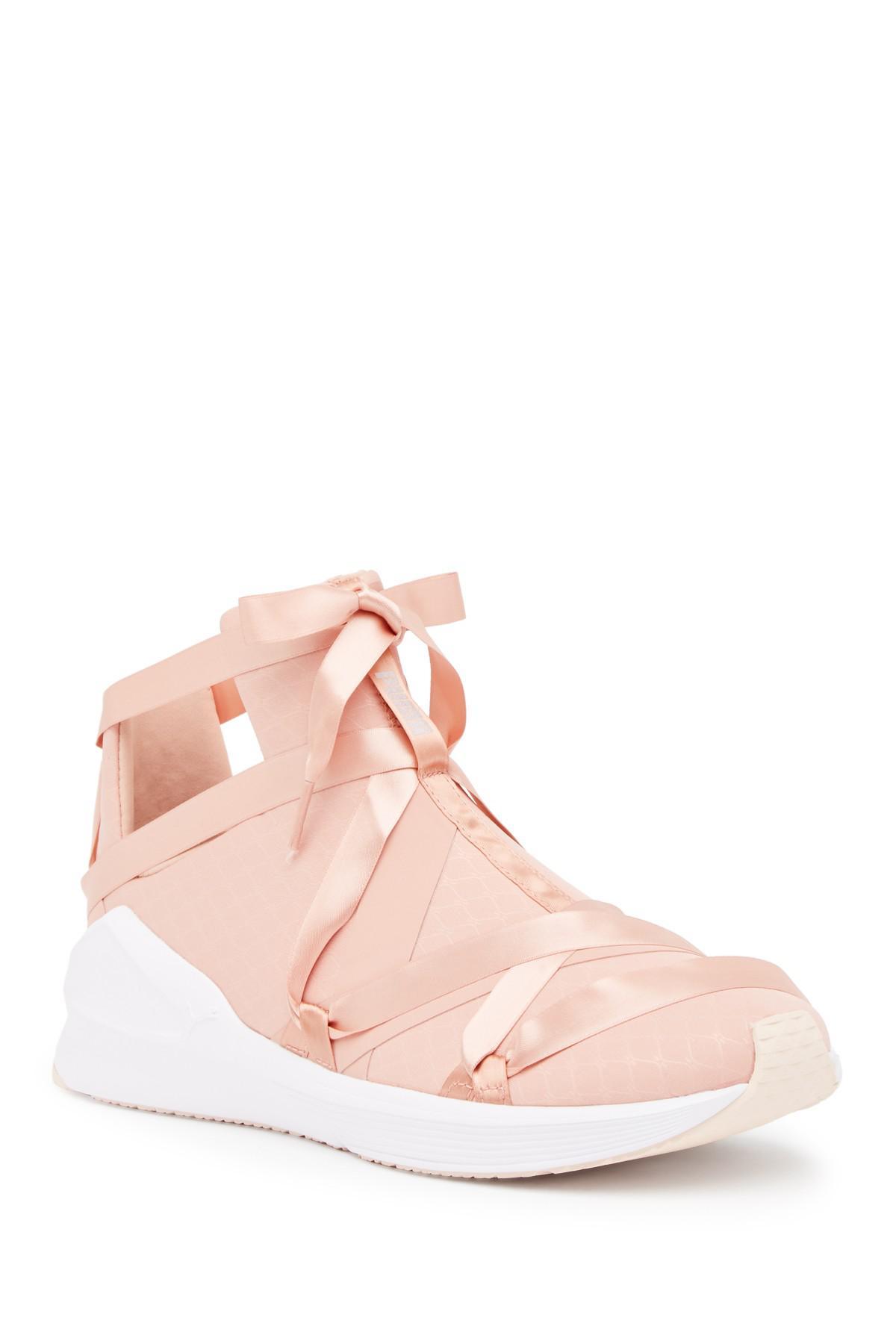 Lyst - PUMA Fierce Rope Satin Ep Sneaker in Pink 697178e4a