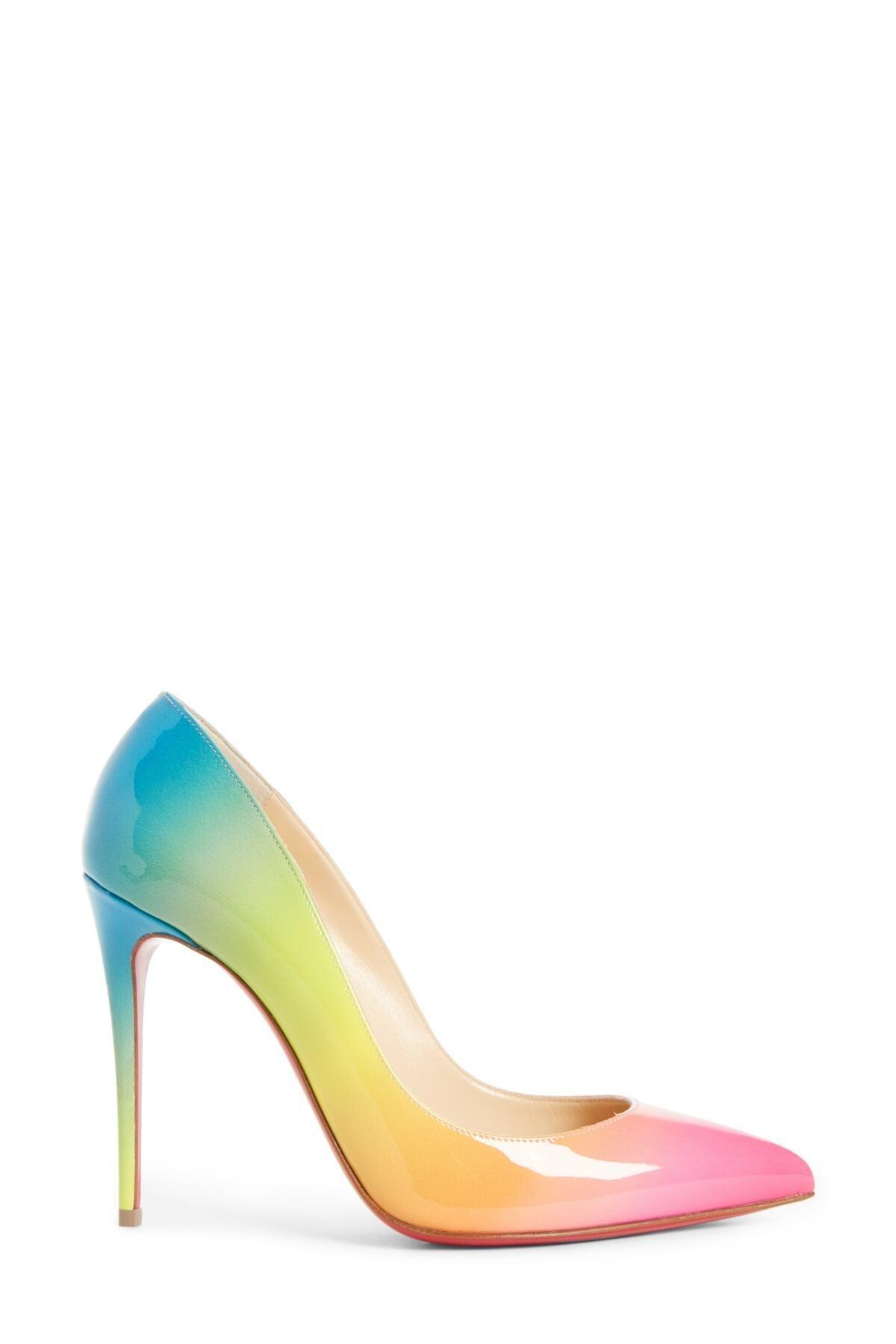 Christian Louboutin Leather Rainbow