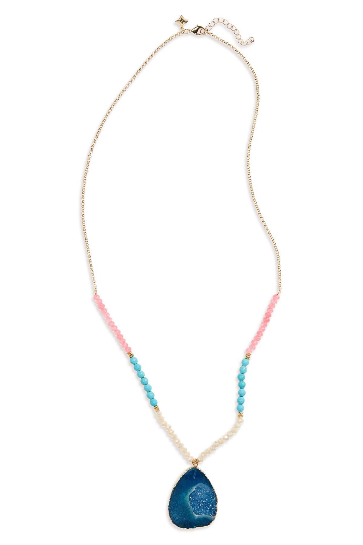 Panacea Multi-Stone Pendant Necklace 3XgB9Oqk1