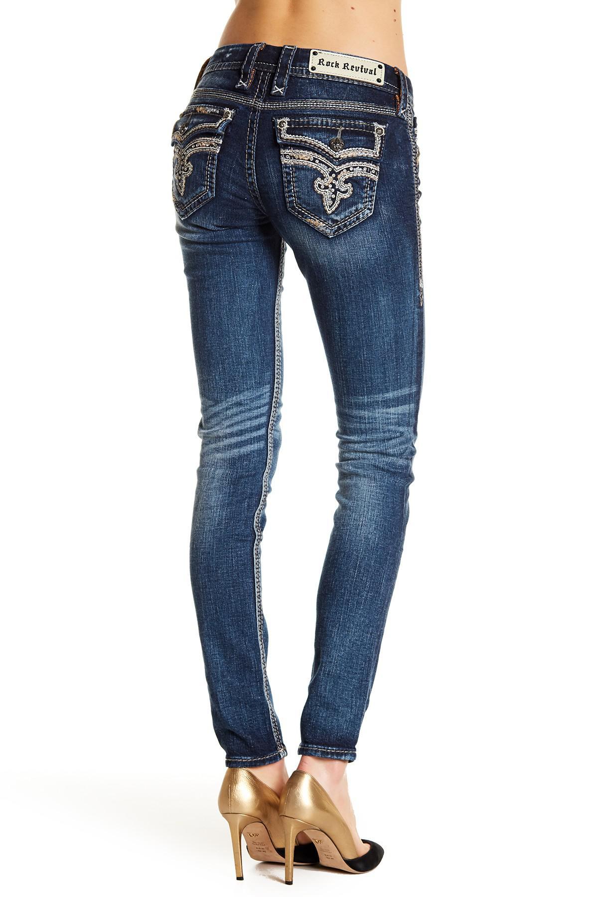 Lyst - Rock Revival Xia Skinny Jeans in Blue