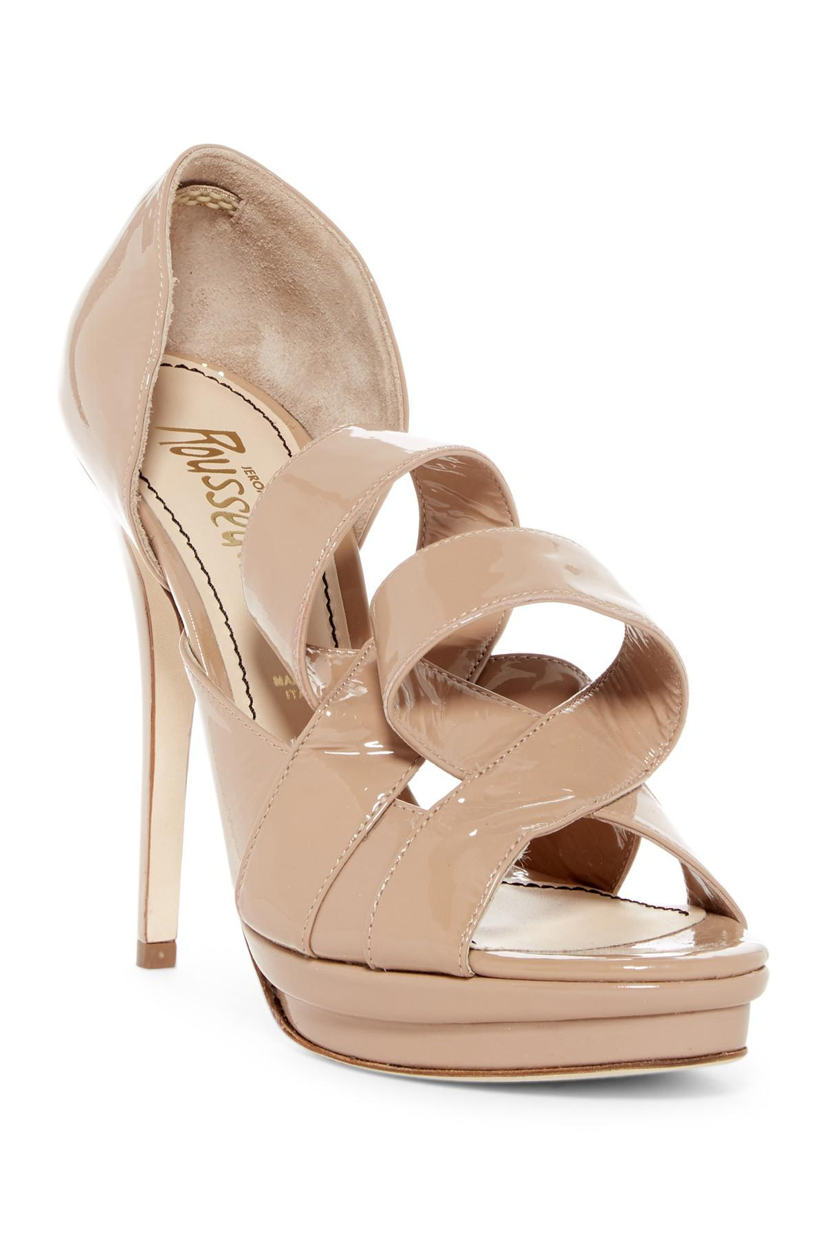 clearance nicekicks enjoy for sale Jerome C. Rousseau Embossed Platform Sandals shop for cheap price pick a best sale online extremely online cQWRR