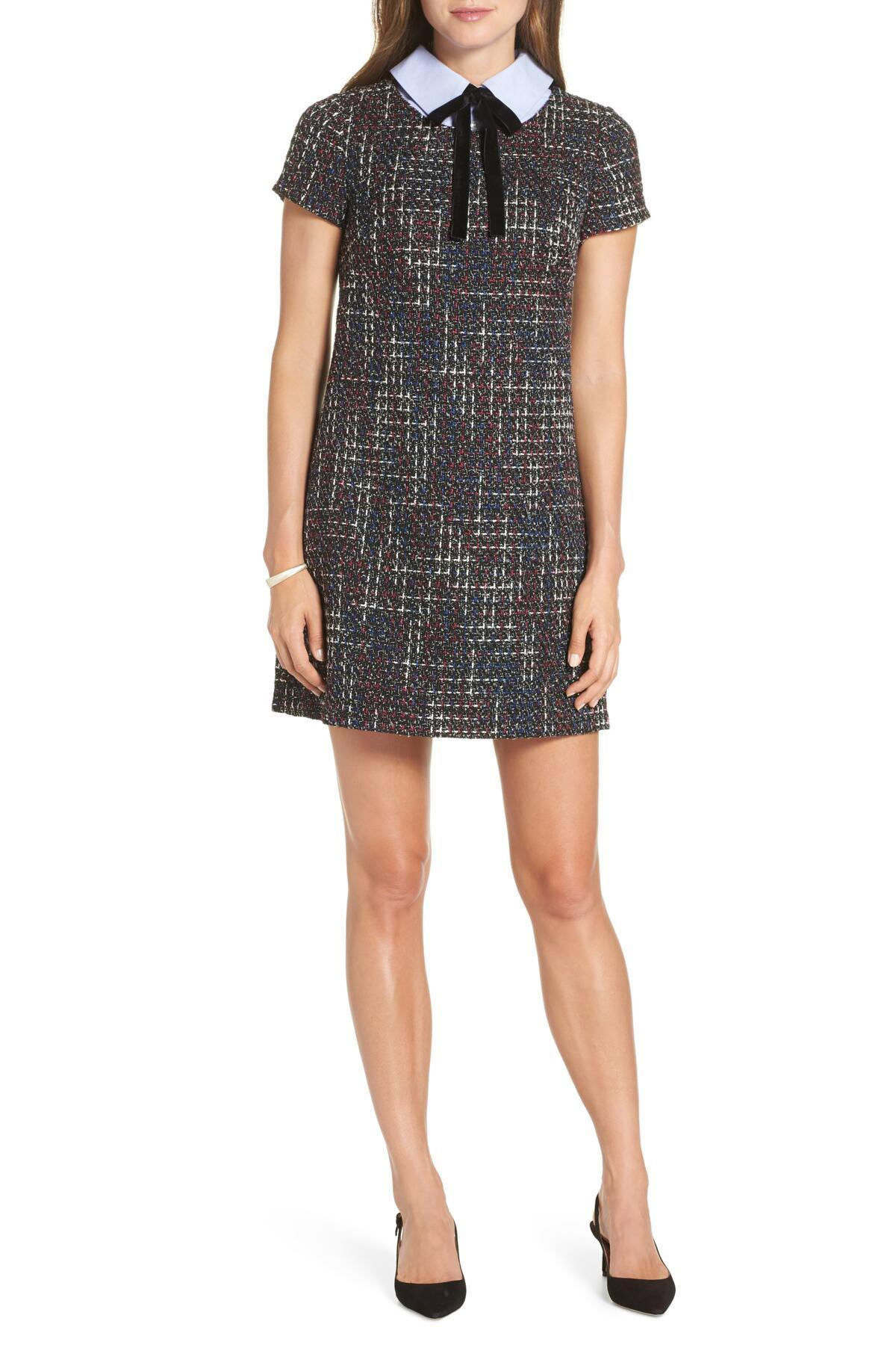 554198d044f Lyst - 1901 Tweed Shift Dress in Black