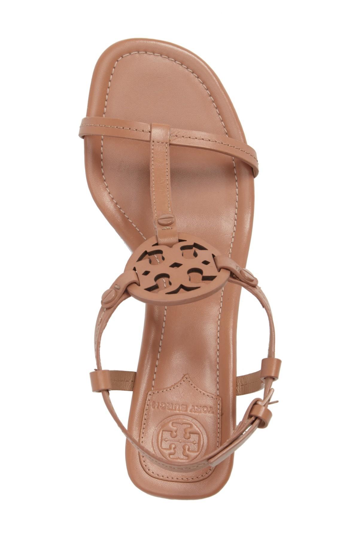 Tory Burch Leather Miller 55mm Sandal Royal Tan Women S