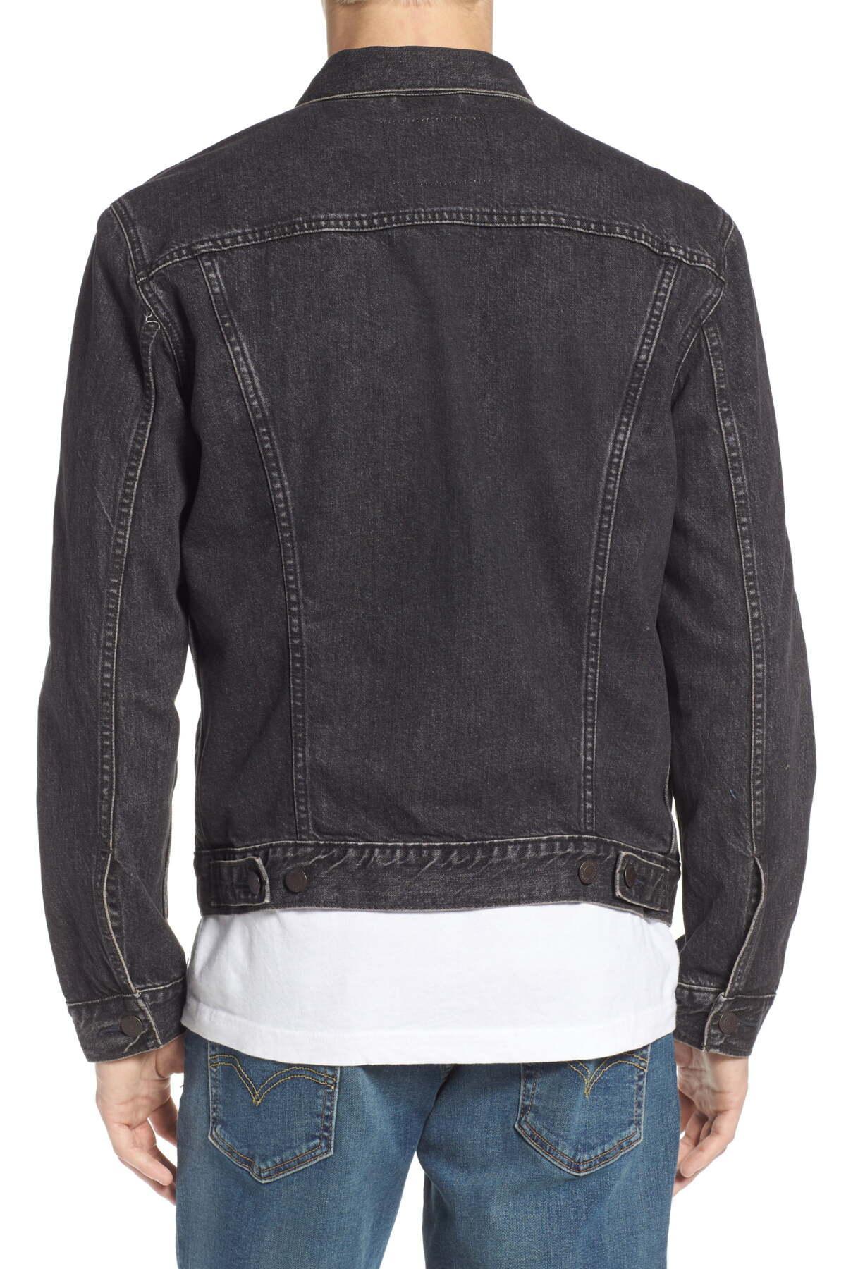 Levi's Trucker Denim Jacket in Black for Men - Lyst