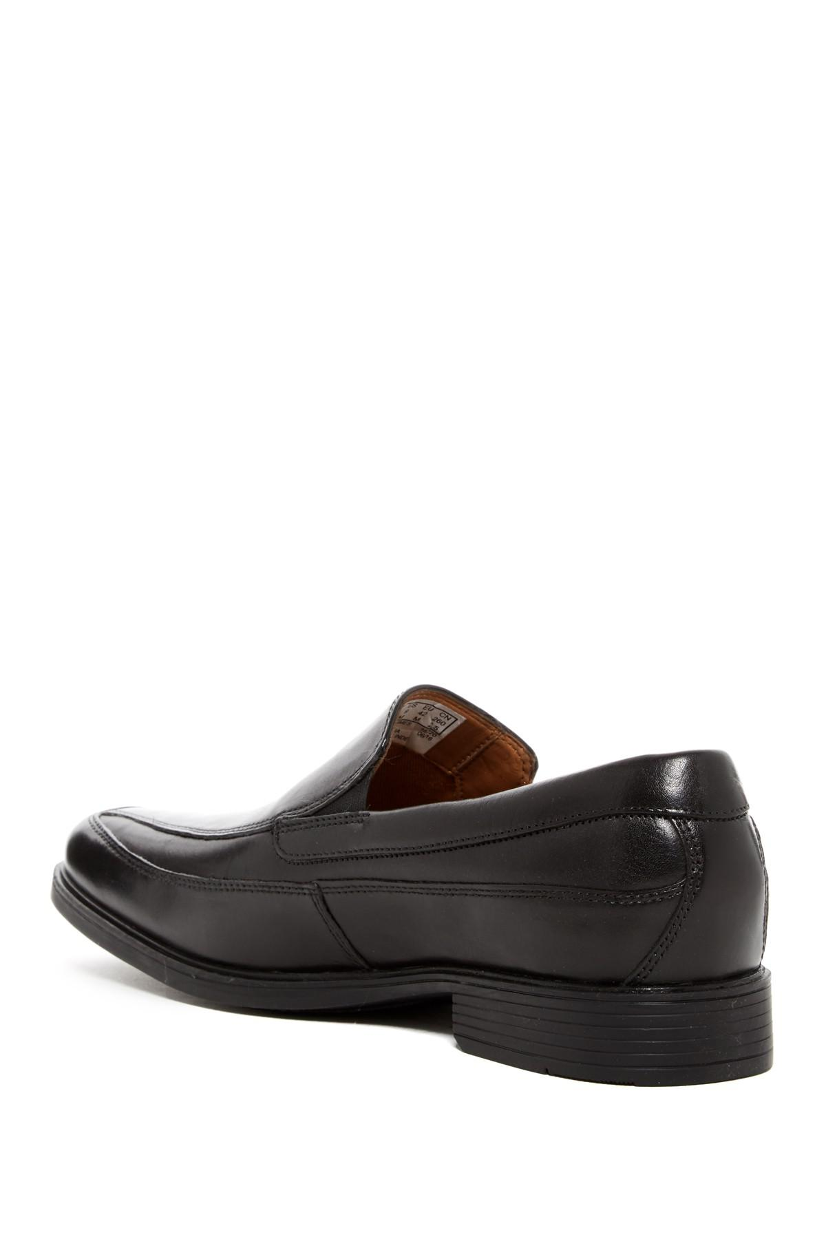 8edd125865f Clarks. Men s Black Tilden Free Leather Slip-on Loafer - Wide Width  Available