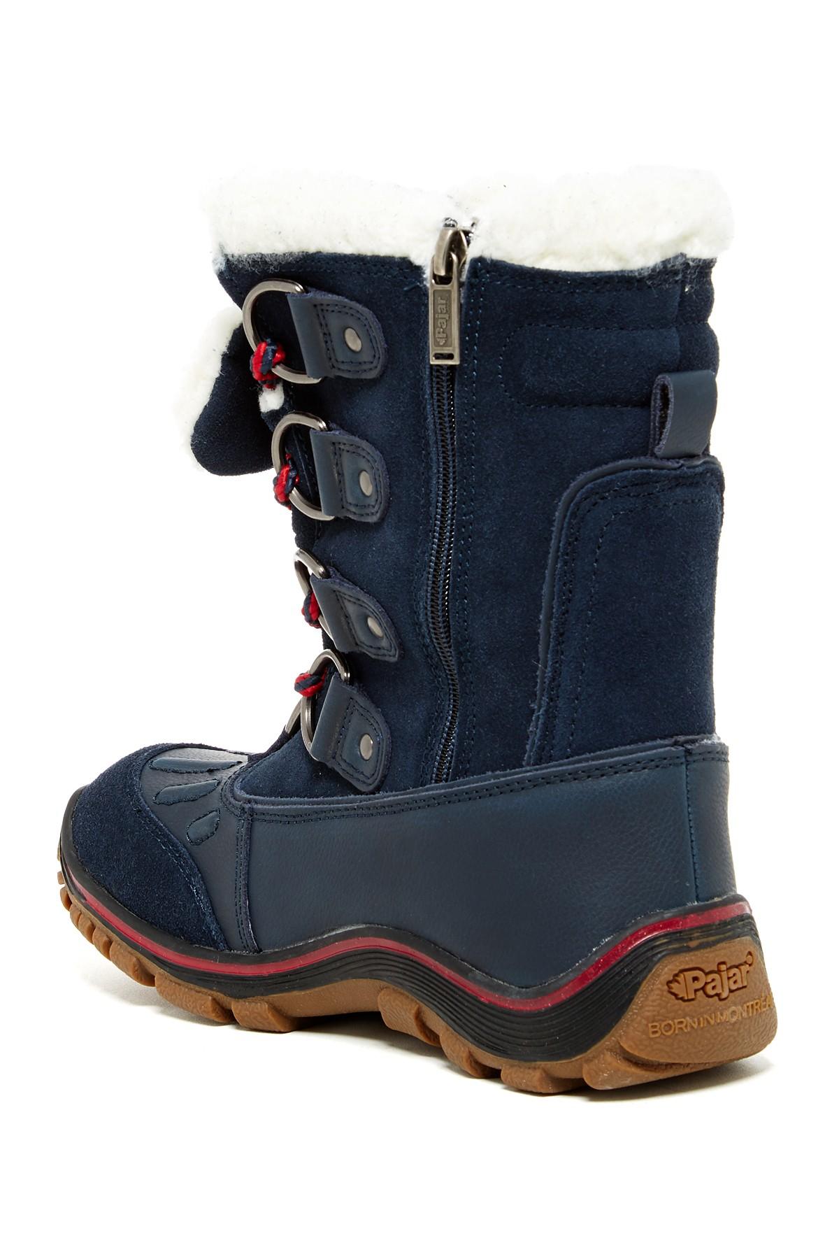 Lyst Pajar Alina Faux Fur Waterproof Boot In Blue