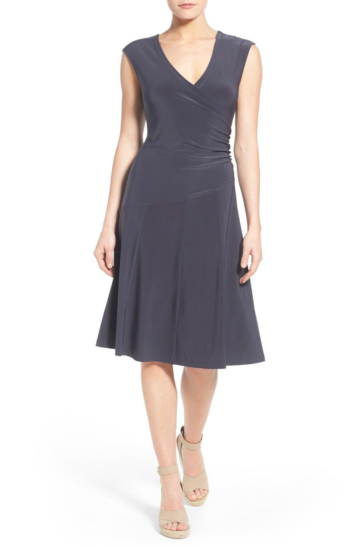Lyst Nic Zoe Matte Jersey Fit Amp Flare Dress