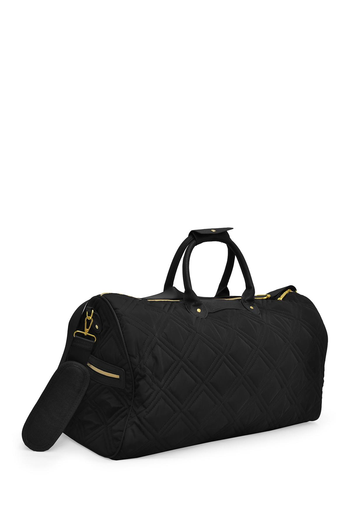 Lyst Adrienne Vittadini Black 22 Quot Quilted Nylon Duffle