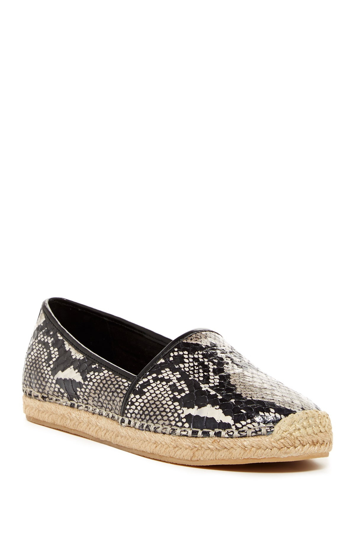 Lyst B Brian Atwood Exact Snake Embossed Espadrille Flat