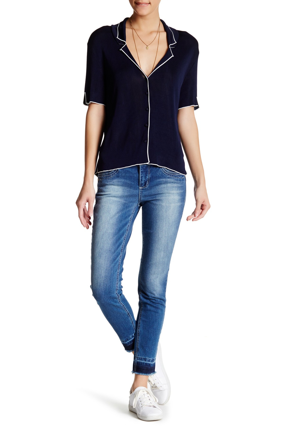Democracy Freedom Ankle Skimmer Jean In Blue Lyst