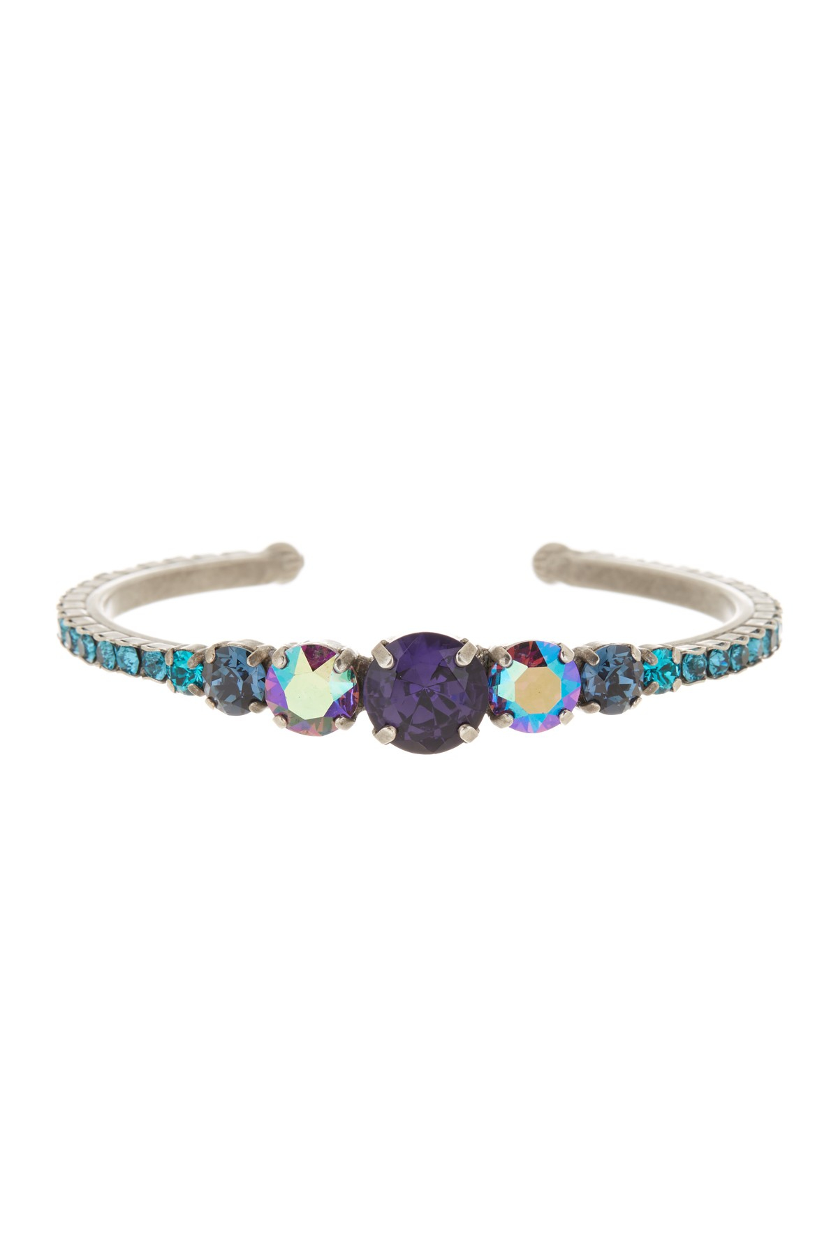 sorrelli multicolor swarovski cuff bracelet in