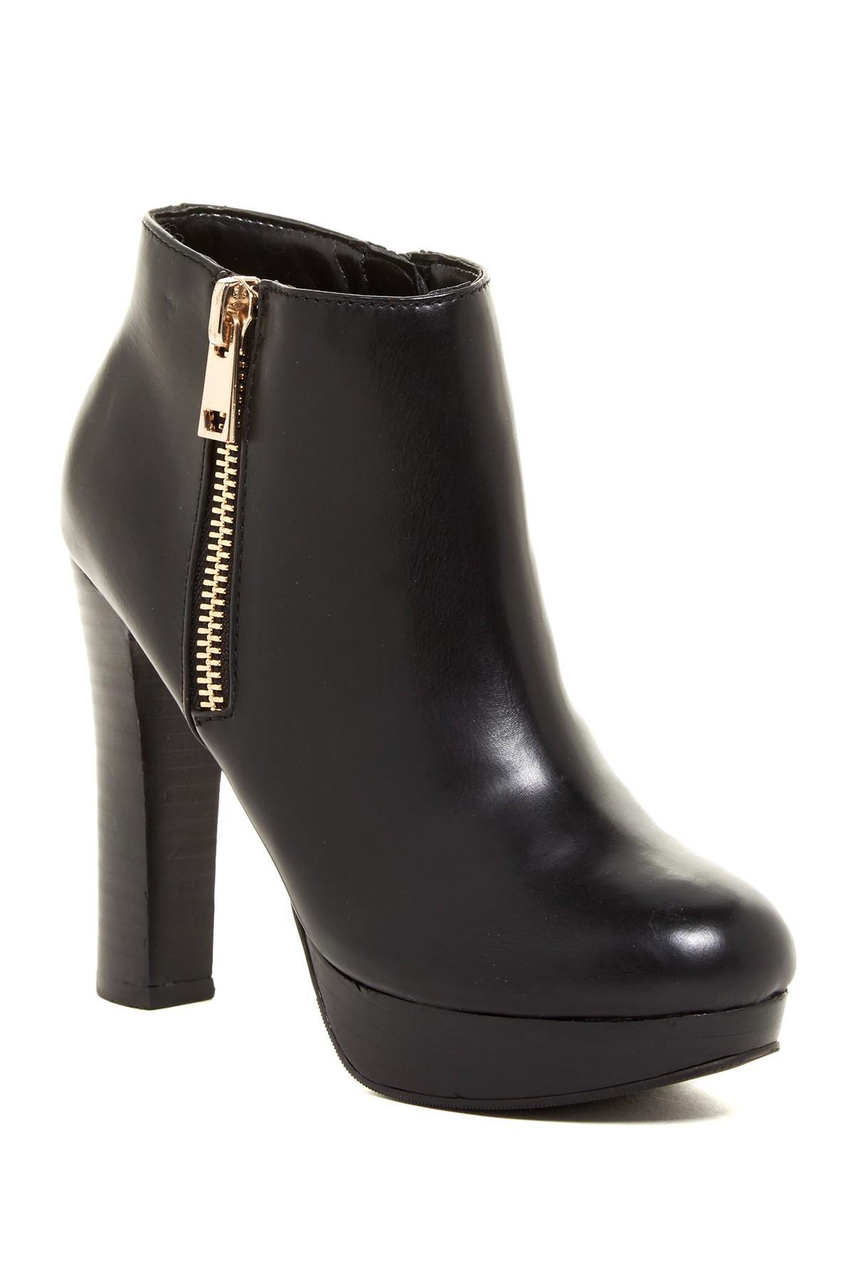 aldo bifano platform boot in black lyst