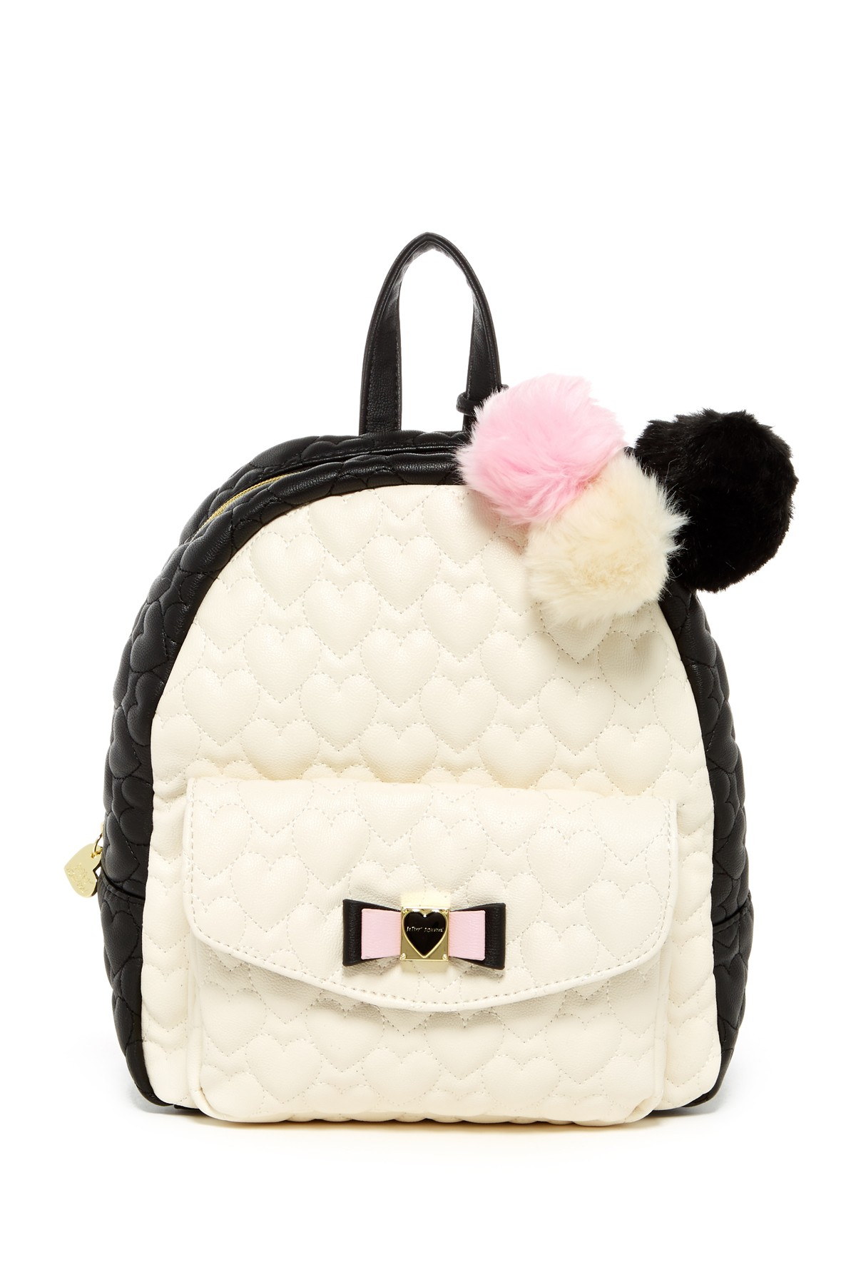 Lyst Betsey Johnson Front Pocket Faux Leather Backpack