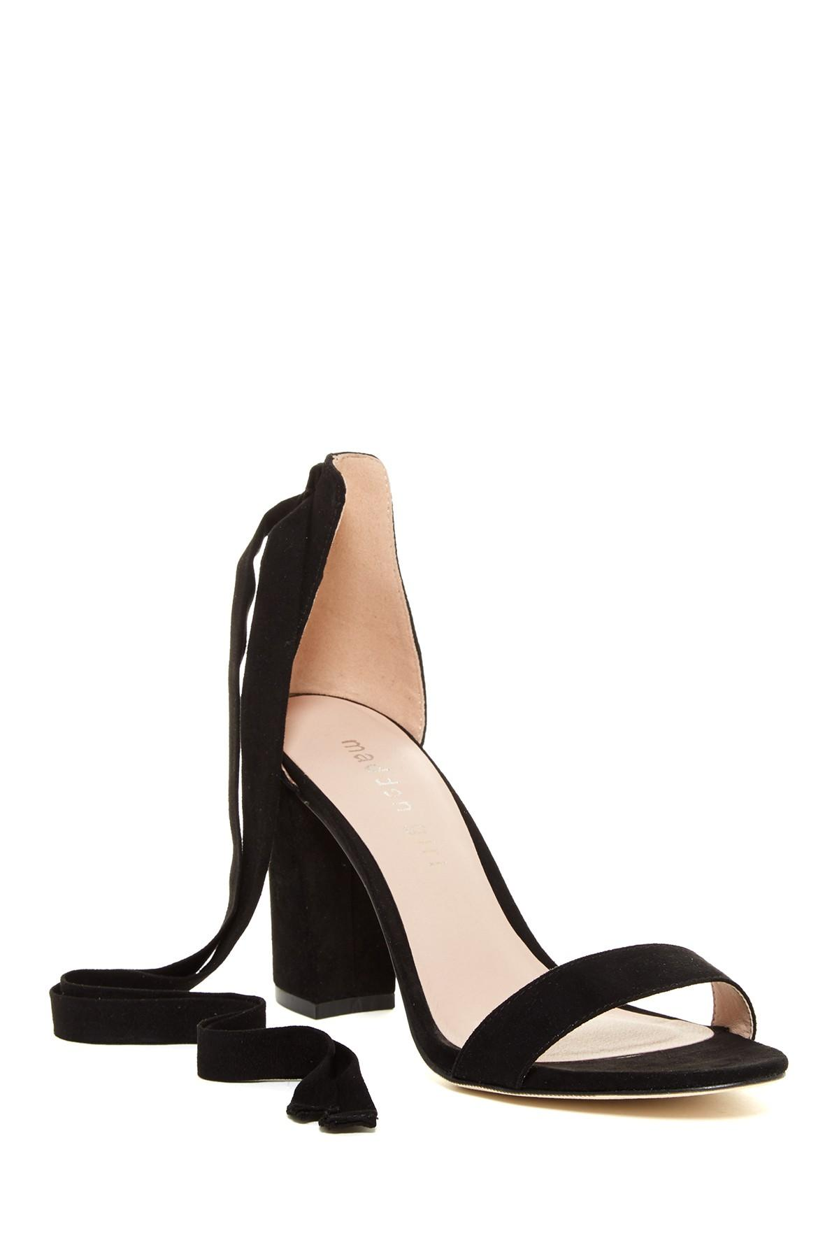 bc54c36d0ed Lyst - Madden Girl Bonniie Ankle Tie Sandal in Black