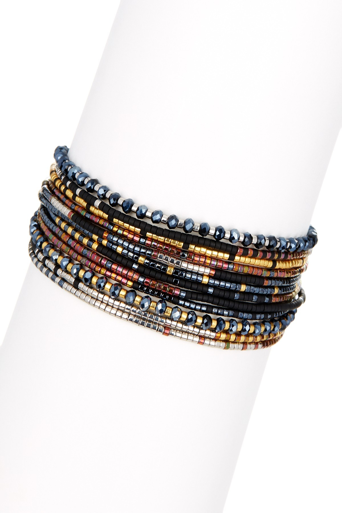 Chan Luu Synthetic Multi Strand Seed Bead Bracelet In