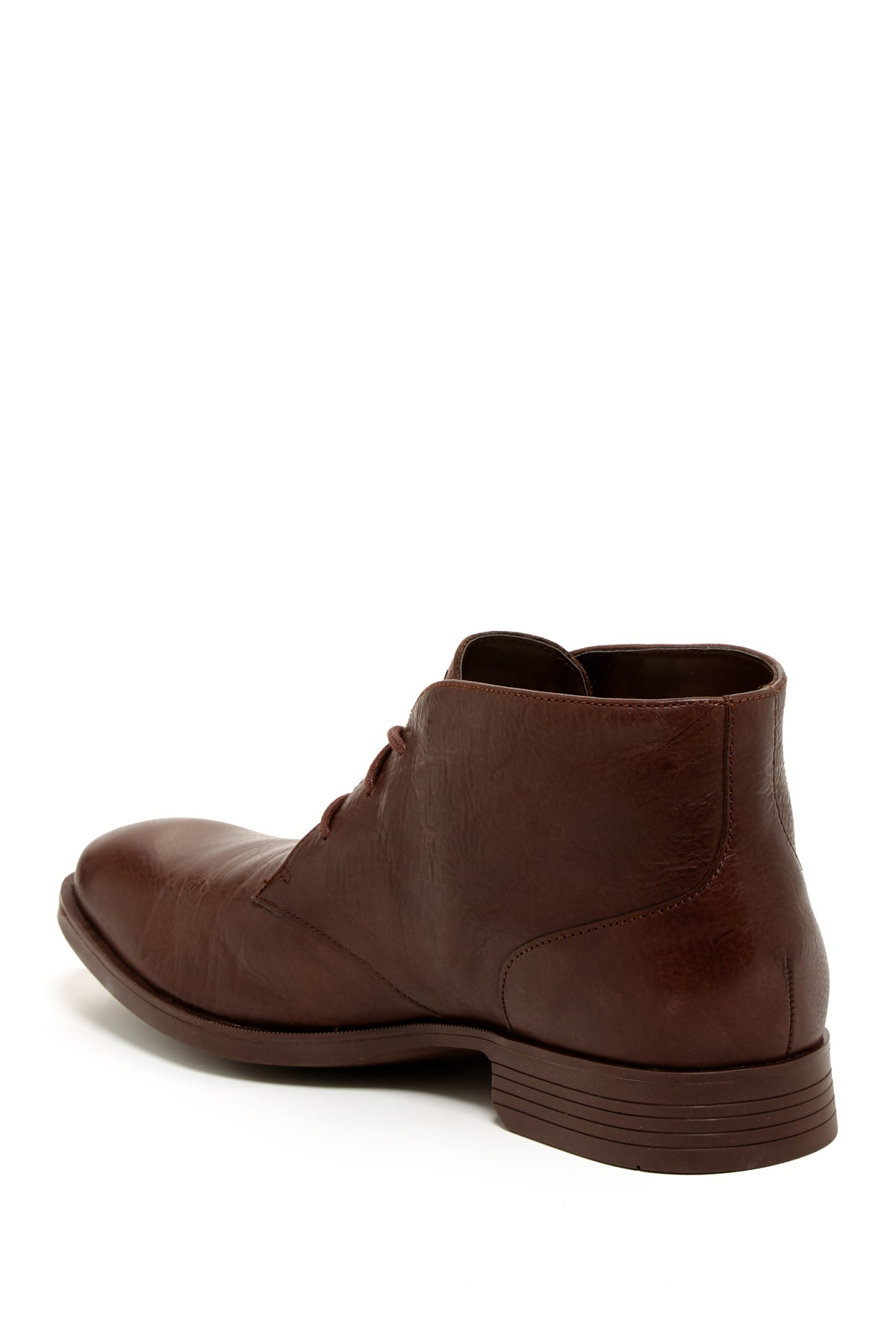 Cole Haan Leather Chelsea Boots In Chestnut Brown For