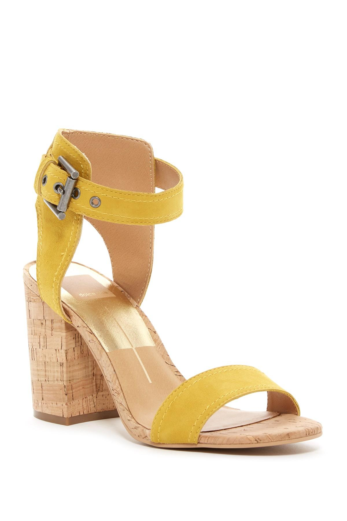 3d4fbbd74ee Lyst - Dolce Vita Cally Block Heel Sandal in Yellow