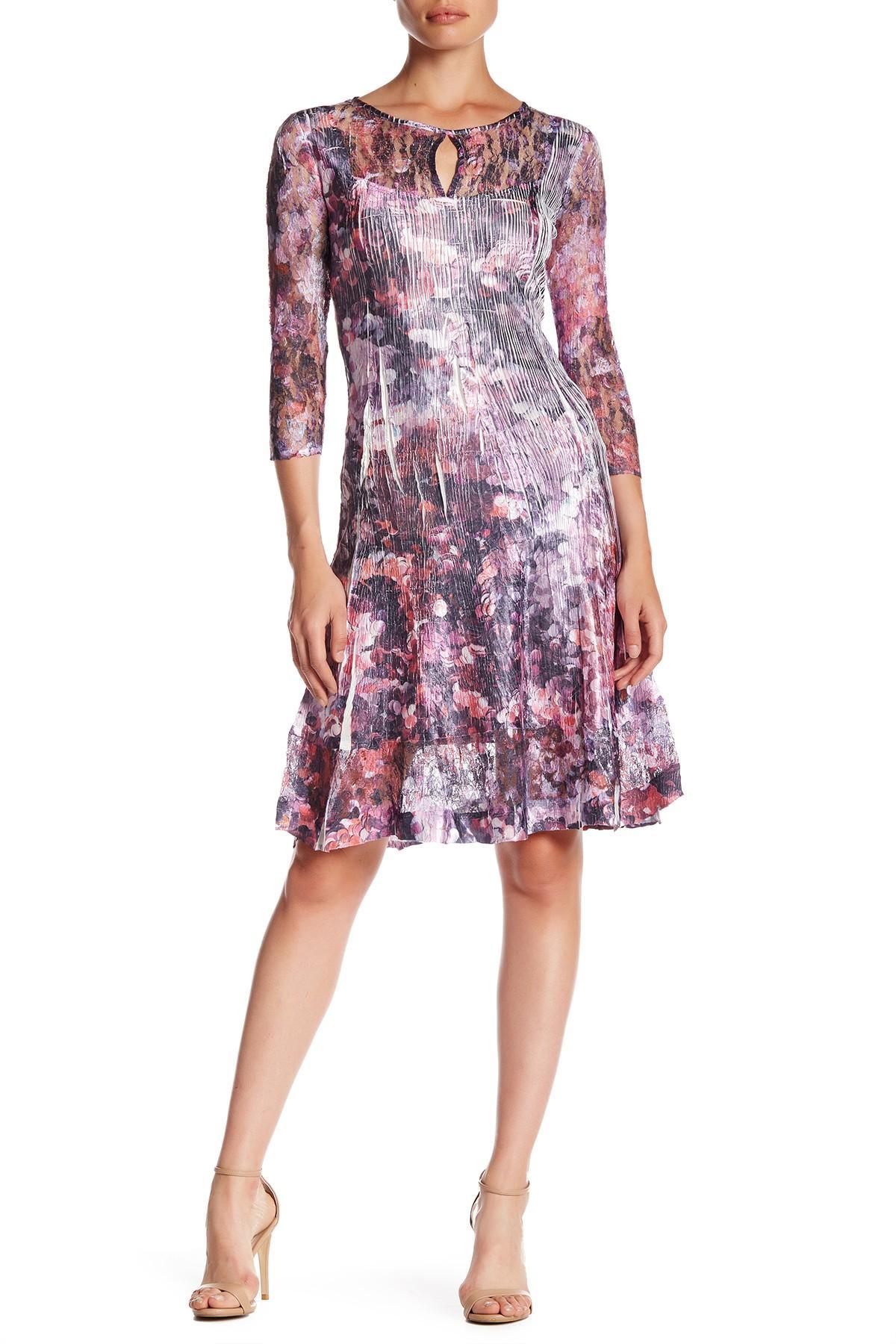 Komarov fit flare printed dress lyst for Nordstrom rack dresses pour mariage