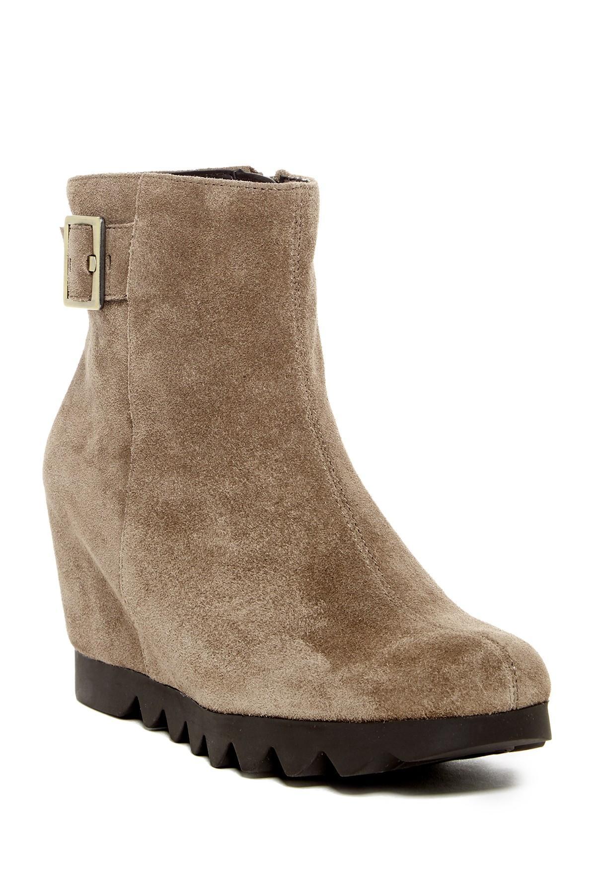 aerosoles confidential wedge boot in brown lyst