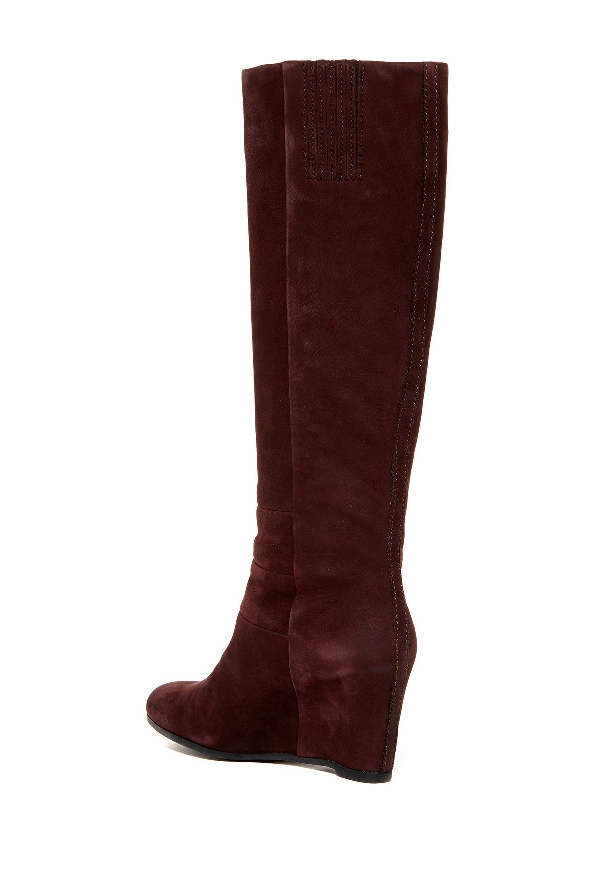 geox ultraviolet suede wedge high boot in brown lyst