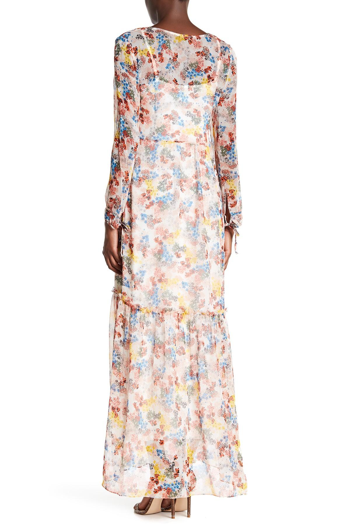 Lyst Ella Moss Long Sleeve Maxi Dress In Natural