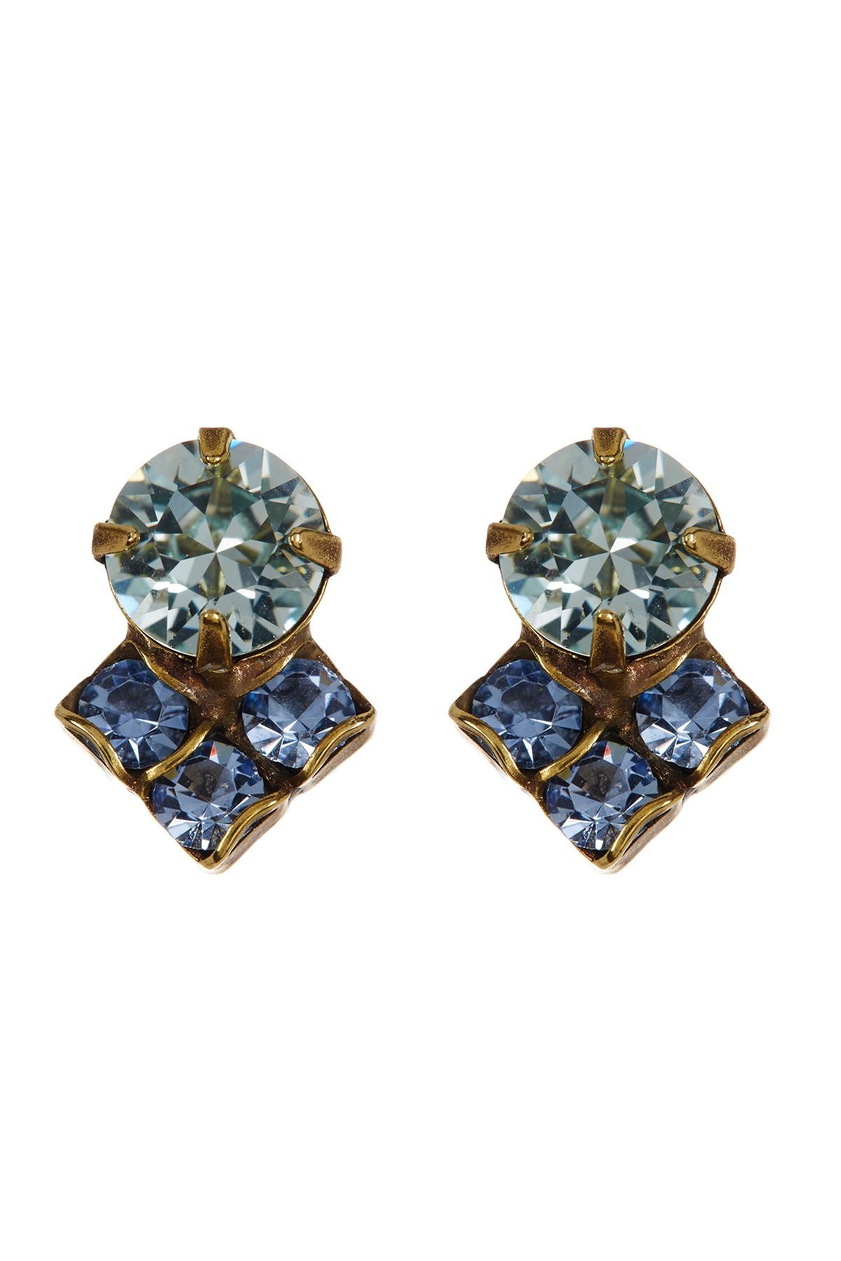 Sorrelli Swarovski Crystal Drop Earrings In Blue Lyst