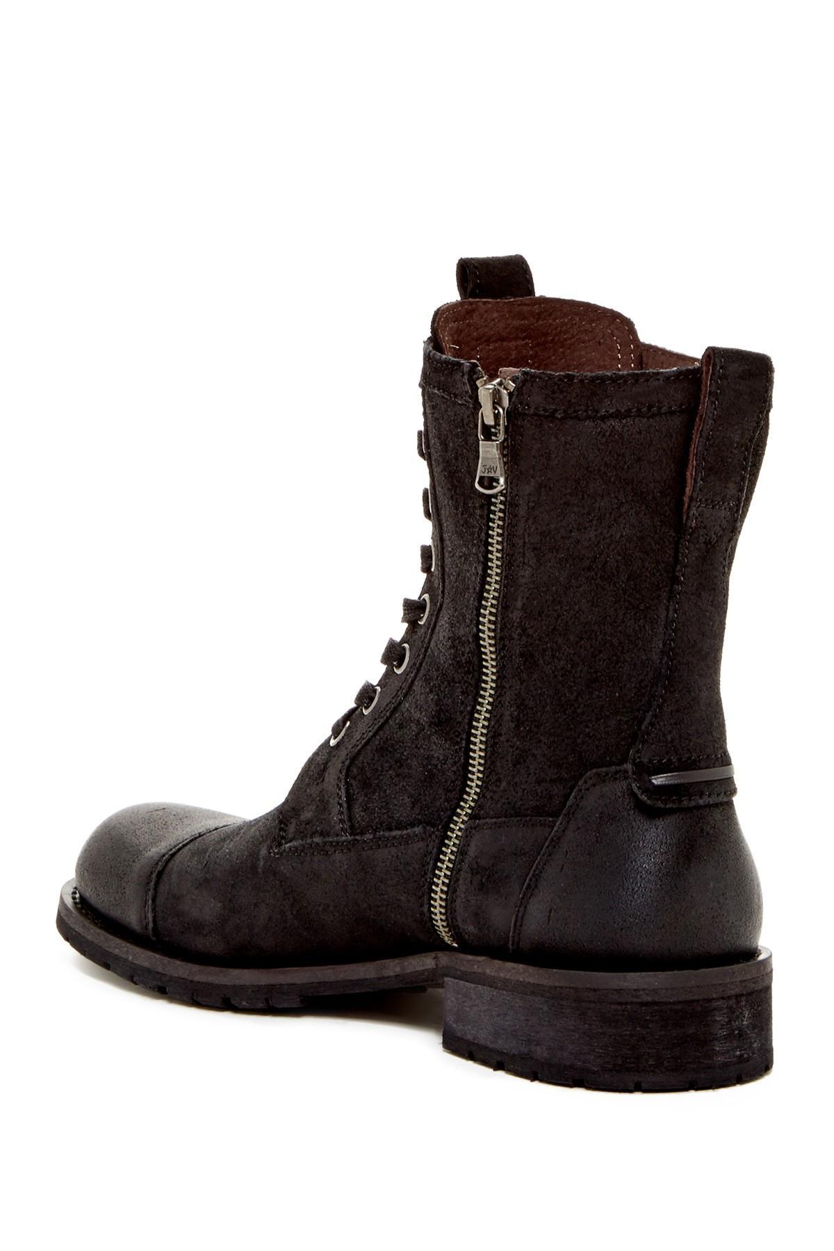 John Varvatos Star S Combat Boot In Black For Men Lyst