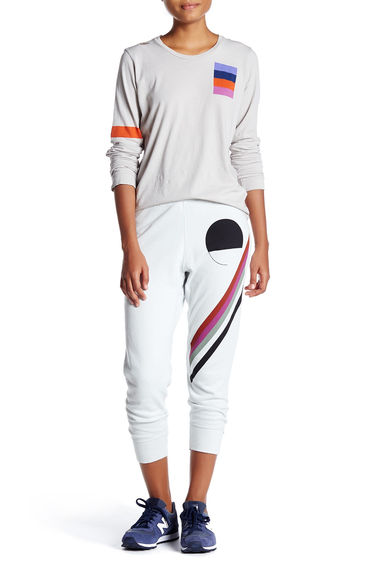 free city circle striped jogger in white lyst
