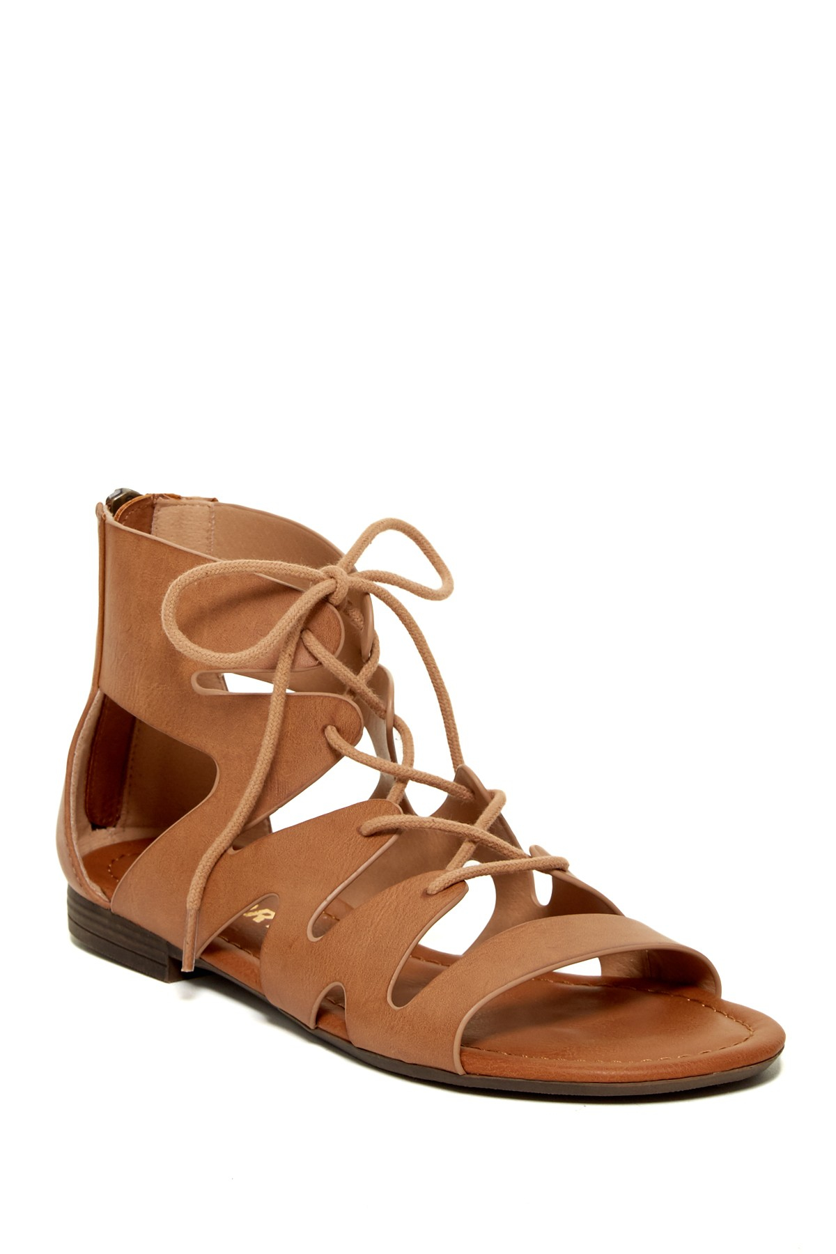 Lyst Report Gisella Lace Sandal In Brown
