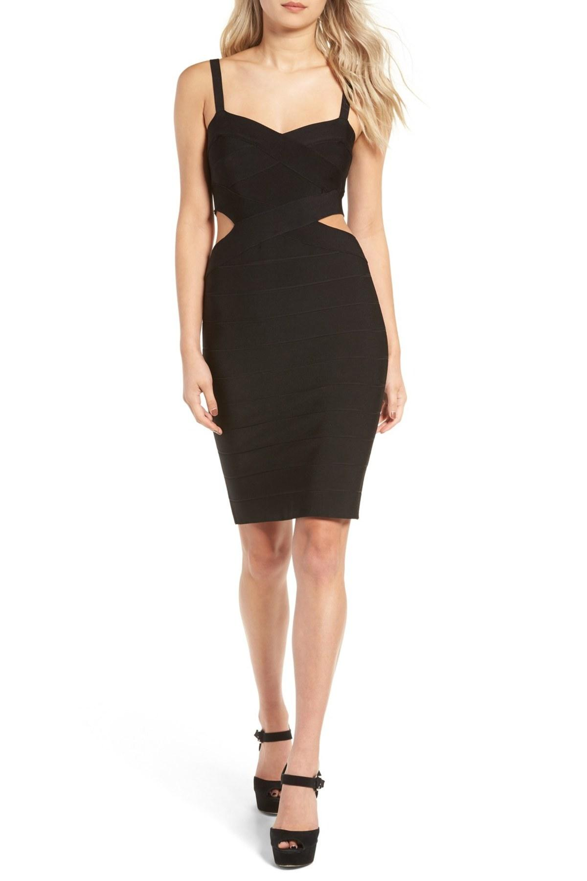 Lyst Glamorous Bandage Body Con Dress In Black