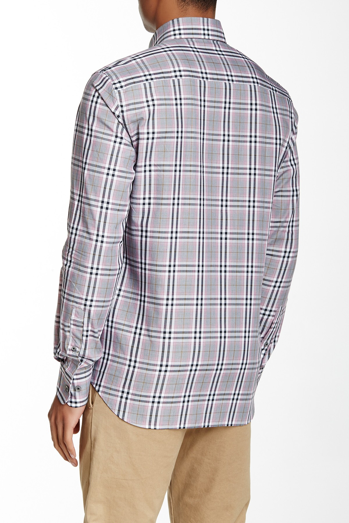 Stone Rose Plaid Long Sleeve Regular Fit Shirt In Blue For