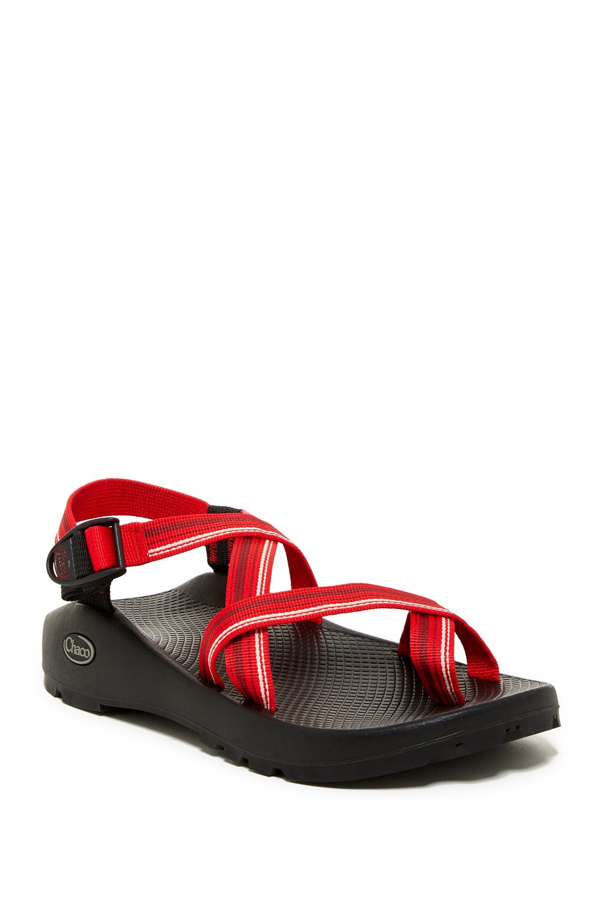 Lyst Chaco Z2 Unaweep Loop Toe Sandal In Red For Men