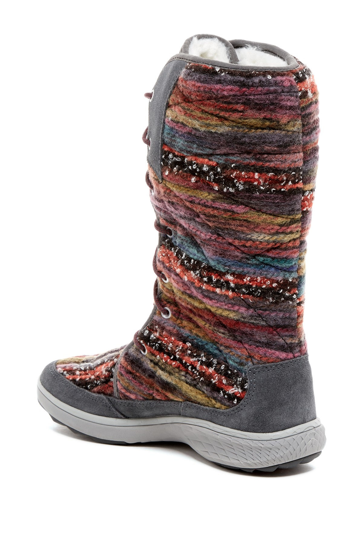 Lyst Merrell Pechora Sky Faux Fur Boot In Gray