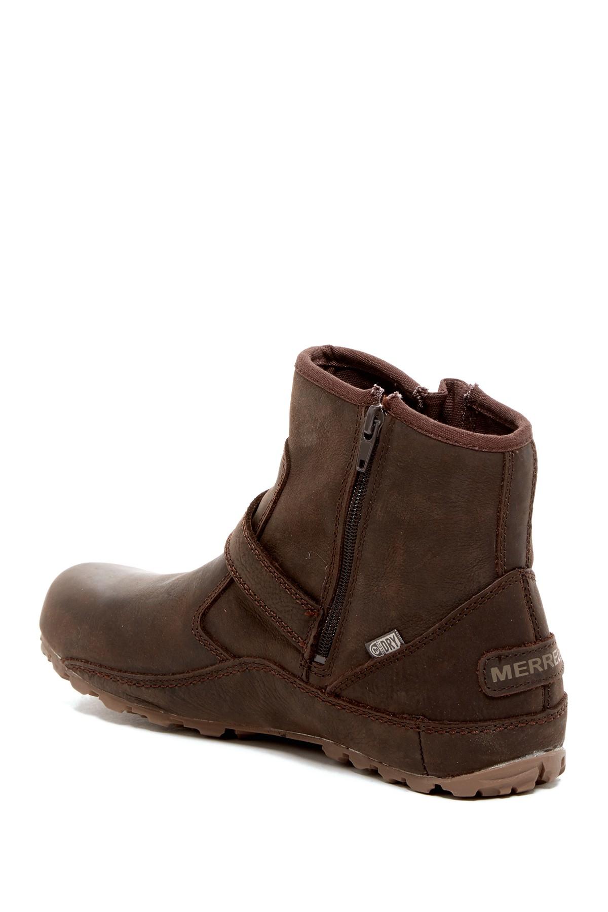 merrell duo waterproof boot in brown lyst