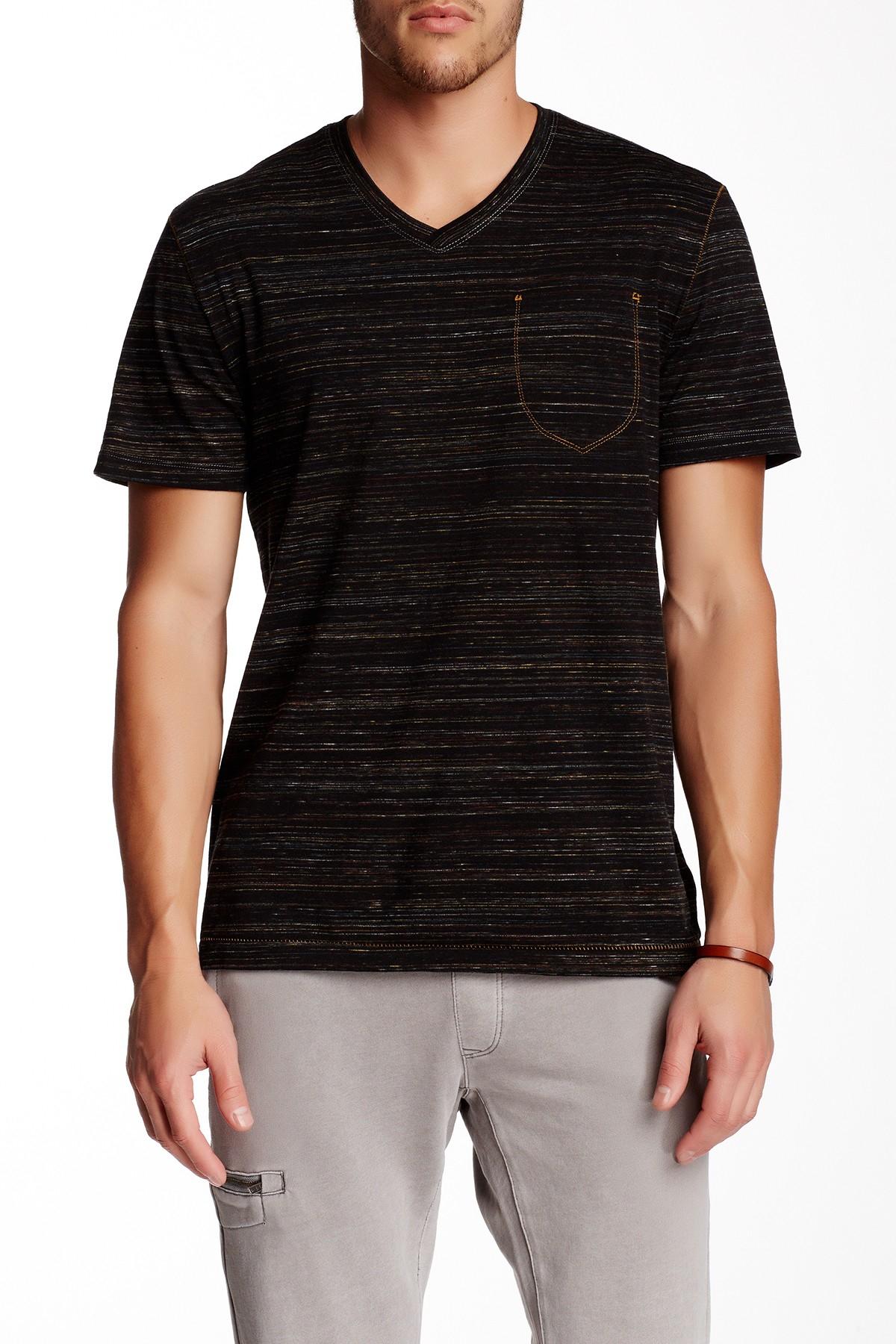 jeremiah speckler striped v neck in black for lyst