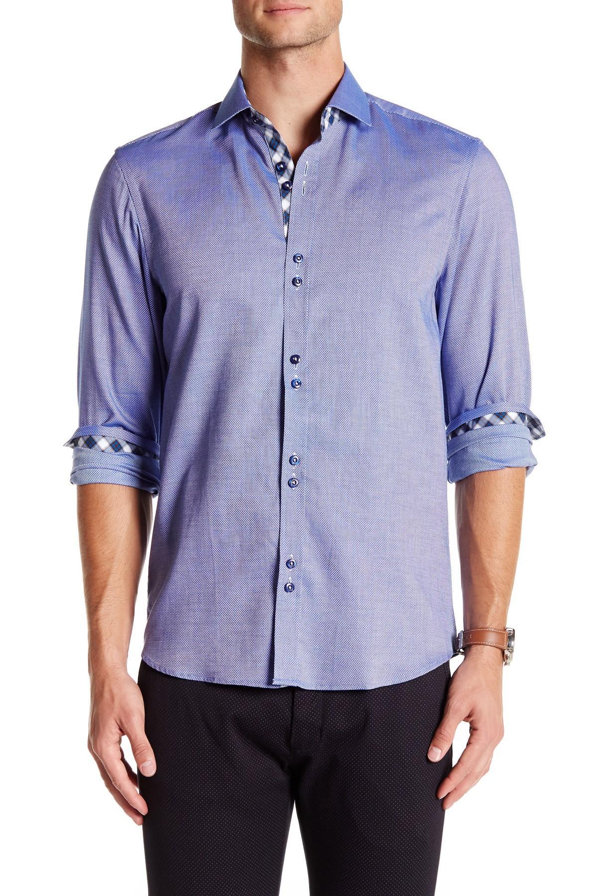 Lyst coogi oxford regular fit dress shirt in blue for men for Regular fit dress shirt
