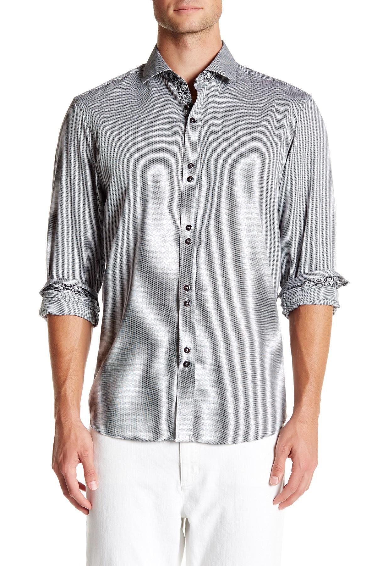 Coogi oxford regular fit dress shirt for men lyst for Regular fit dress shirt