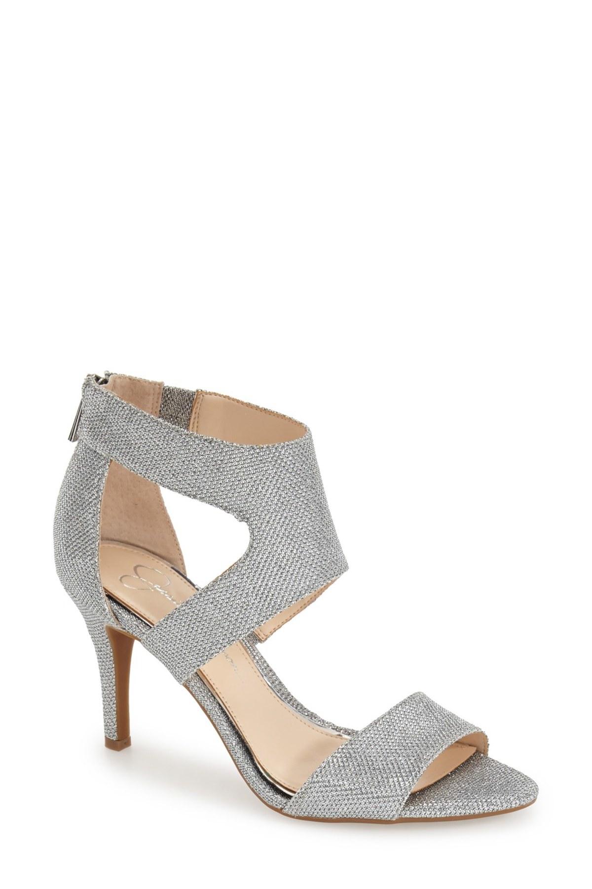 Lyst - Jessica simpson Mekos Open Toe Sandal in Metallic